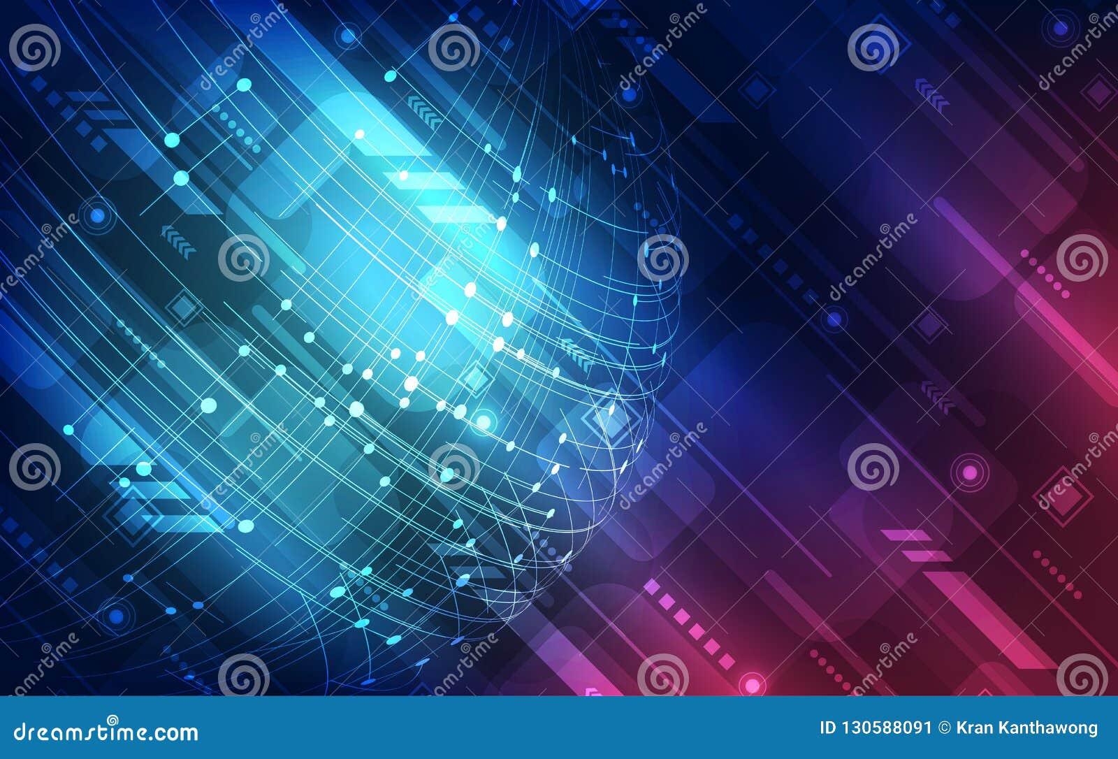 Digitalt snabbt globalt teknologibegrepp för vektor, abstrakt bakgrund