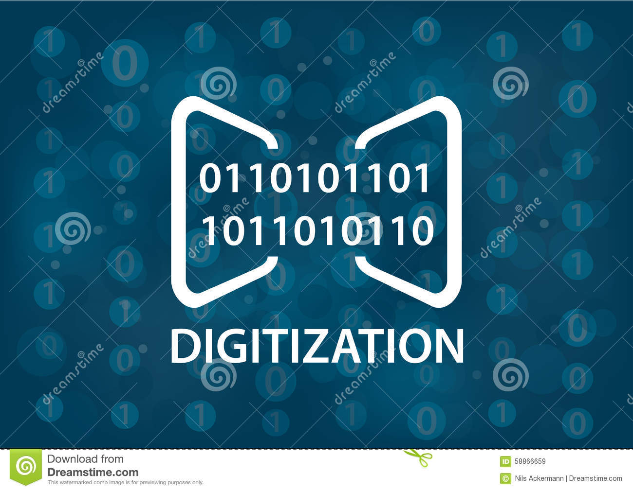 digitization concept illustration  digital background