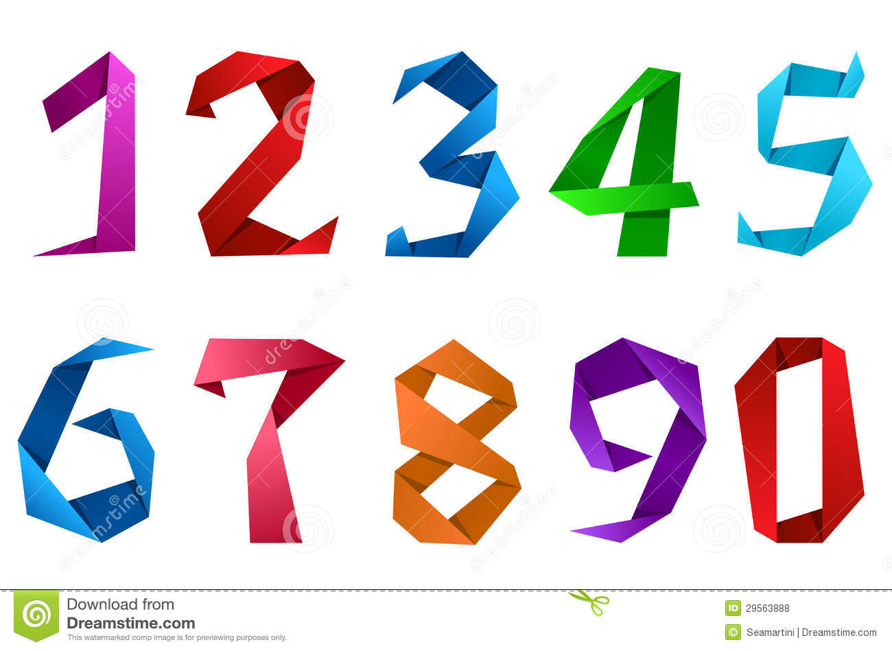 Digits And Numbers In Origami Style Royalty Free Stock Photos ...