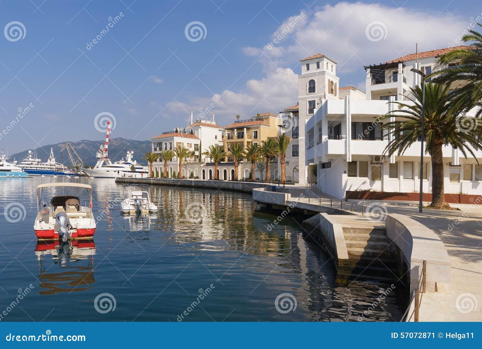 Dijk van Tivat-stad montenegro
