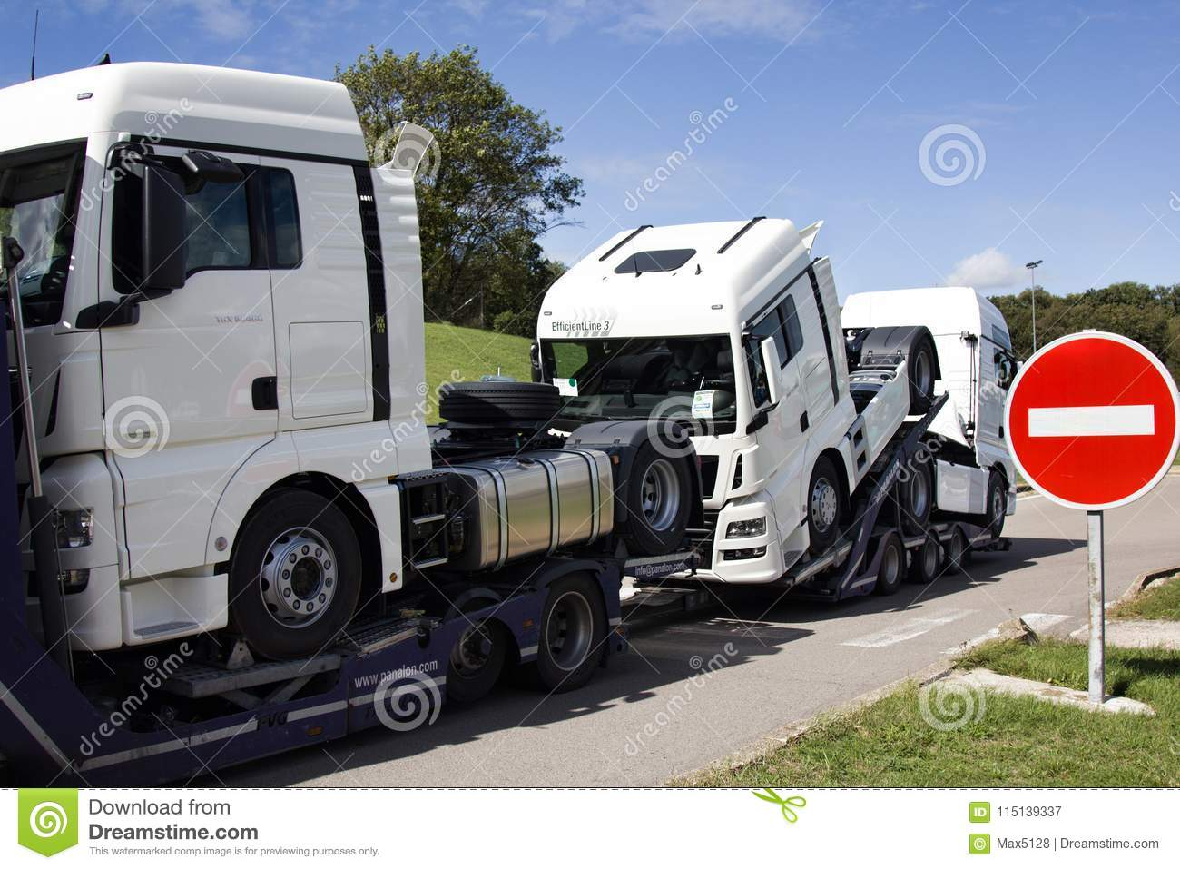 Haulaway loaded truck cab editorial photography  Image of