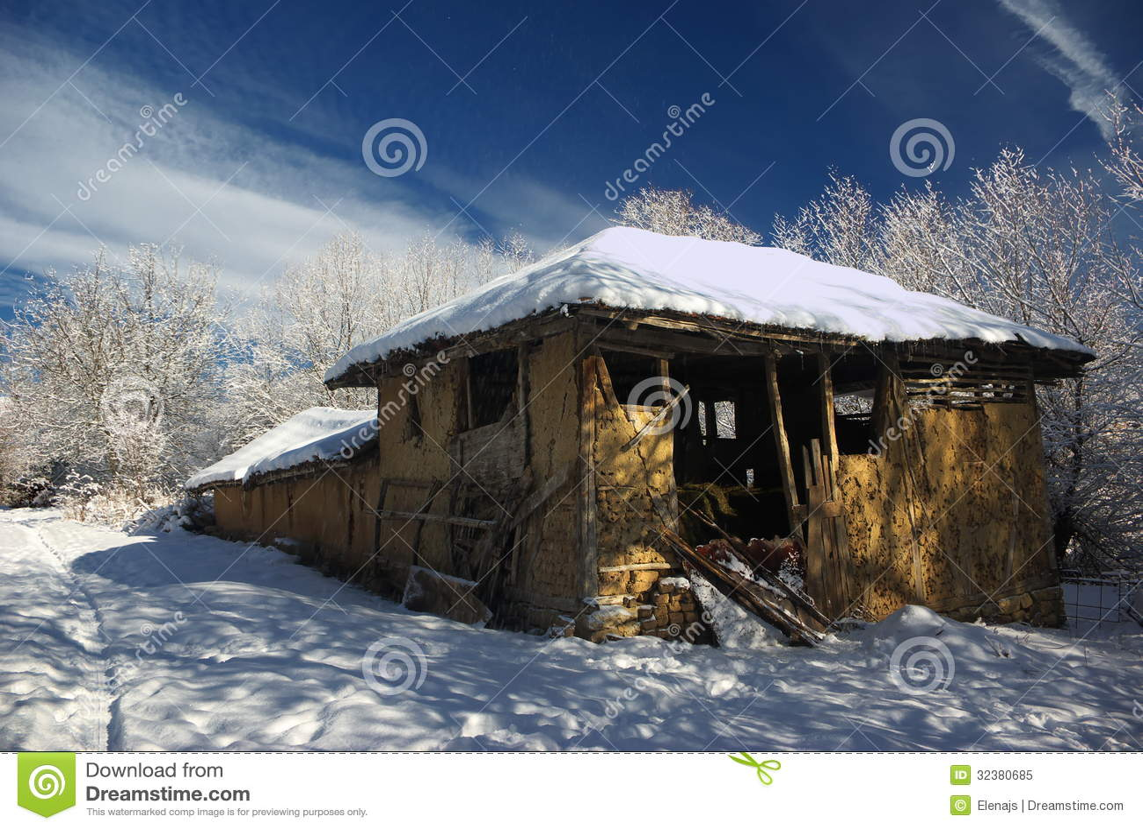 Nice House Design Program Free #1: Dilapidated-house-old-captured-winter-beautiful-sky-background-captured-sunny-winter-day-32380685.jpg