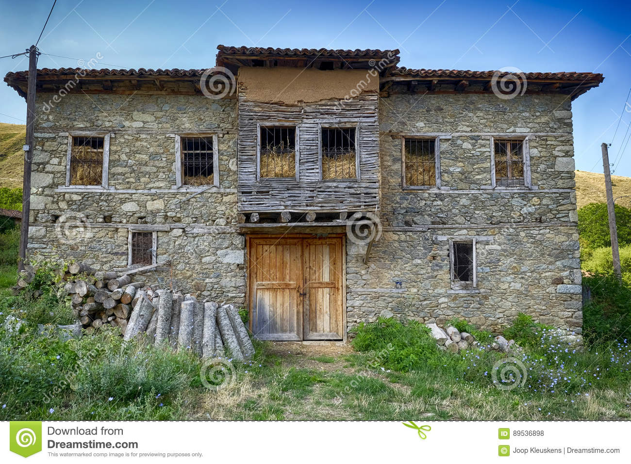Dilapidated Old House Filled With Straw Stock Photo - Image of ... on