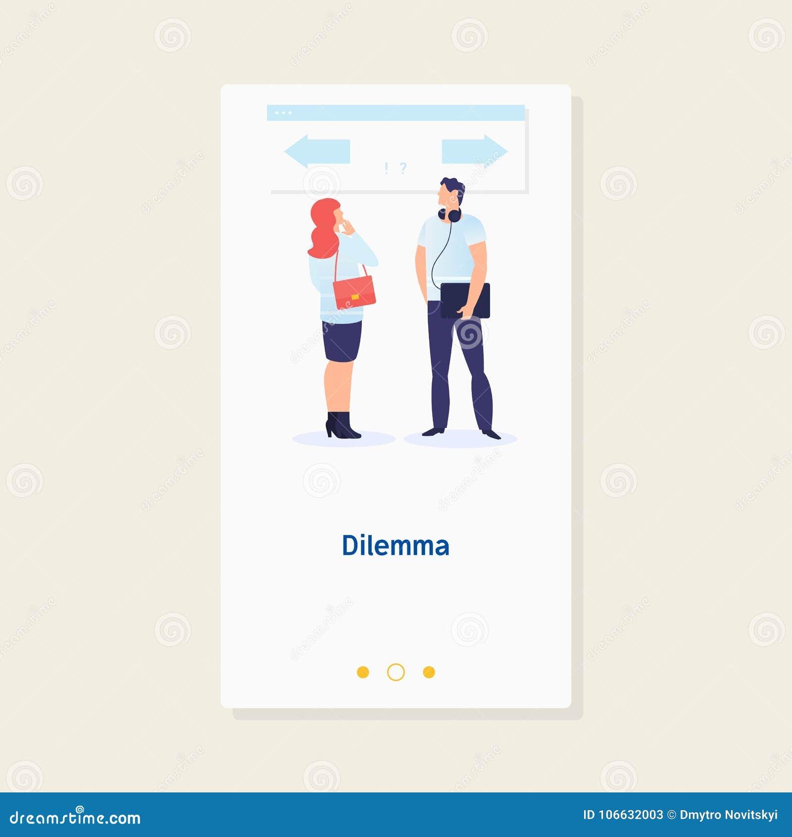 Dilemma des Geschäftsmannes Papierbeschaffenheit mit Yes und keinem Checkkasten Geschäftsmann verwirren, um das rechte directionC