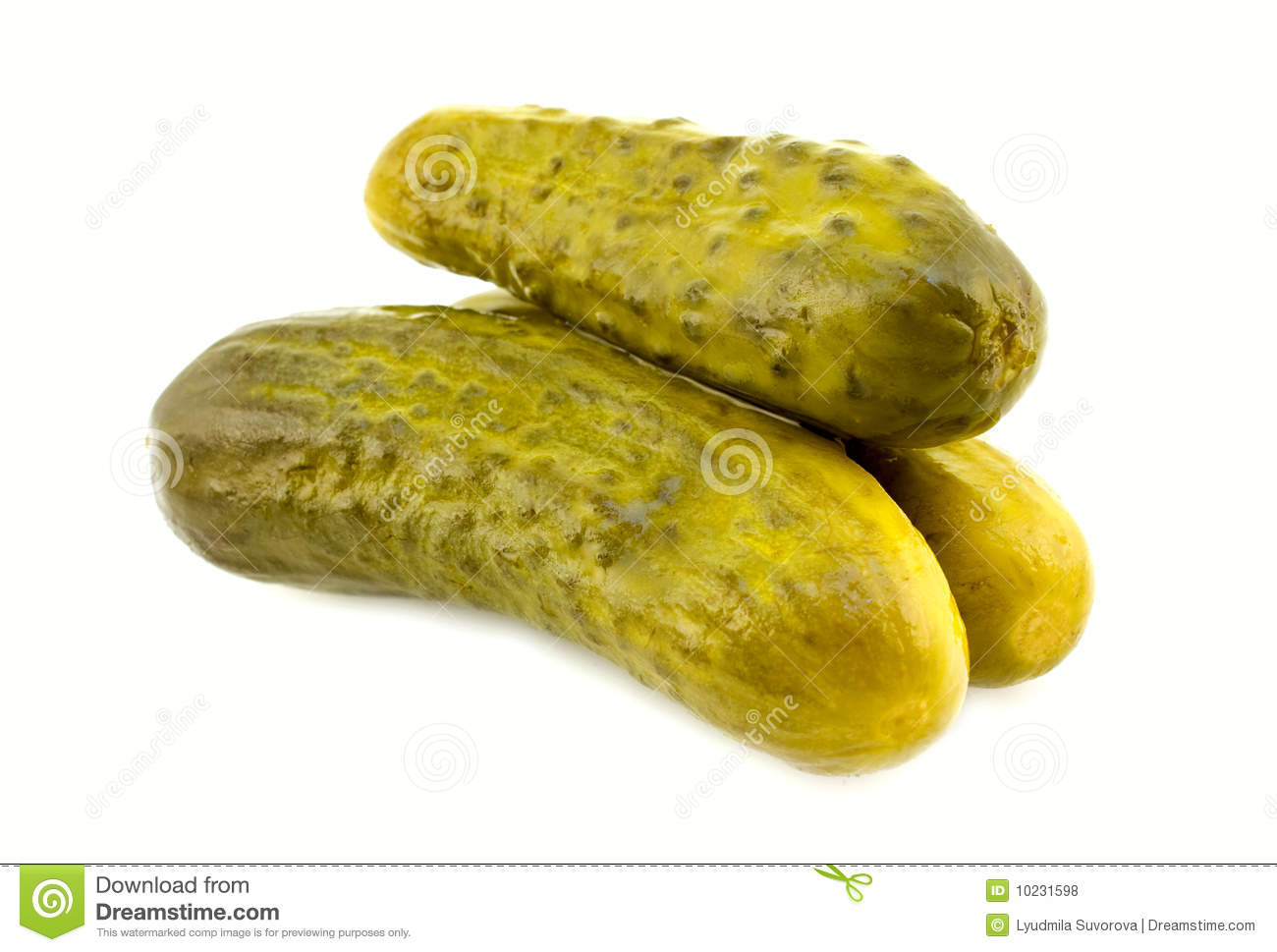 Dill Pickle Royalty Free Stock Photos - Image: 10231598