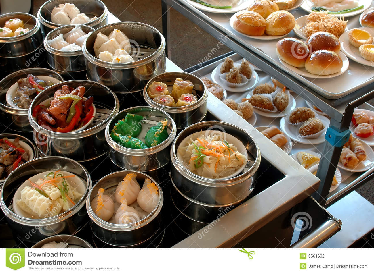 dim sum carts stock photo image of food rolls chicken 3561692. Black Bedroom Furniture Sets. Home Design Ideas