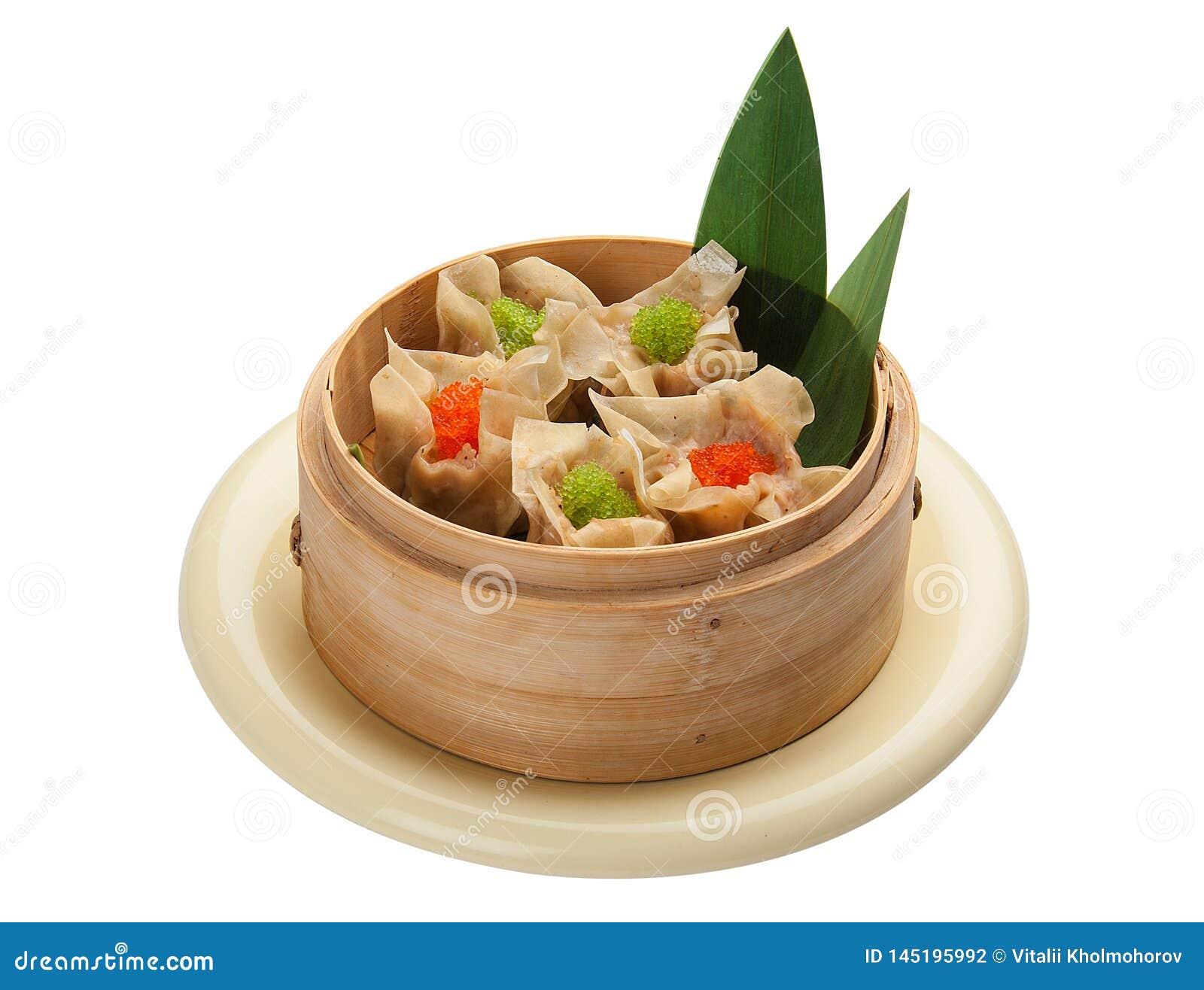 Dim sum with pork and shrimp.