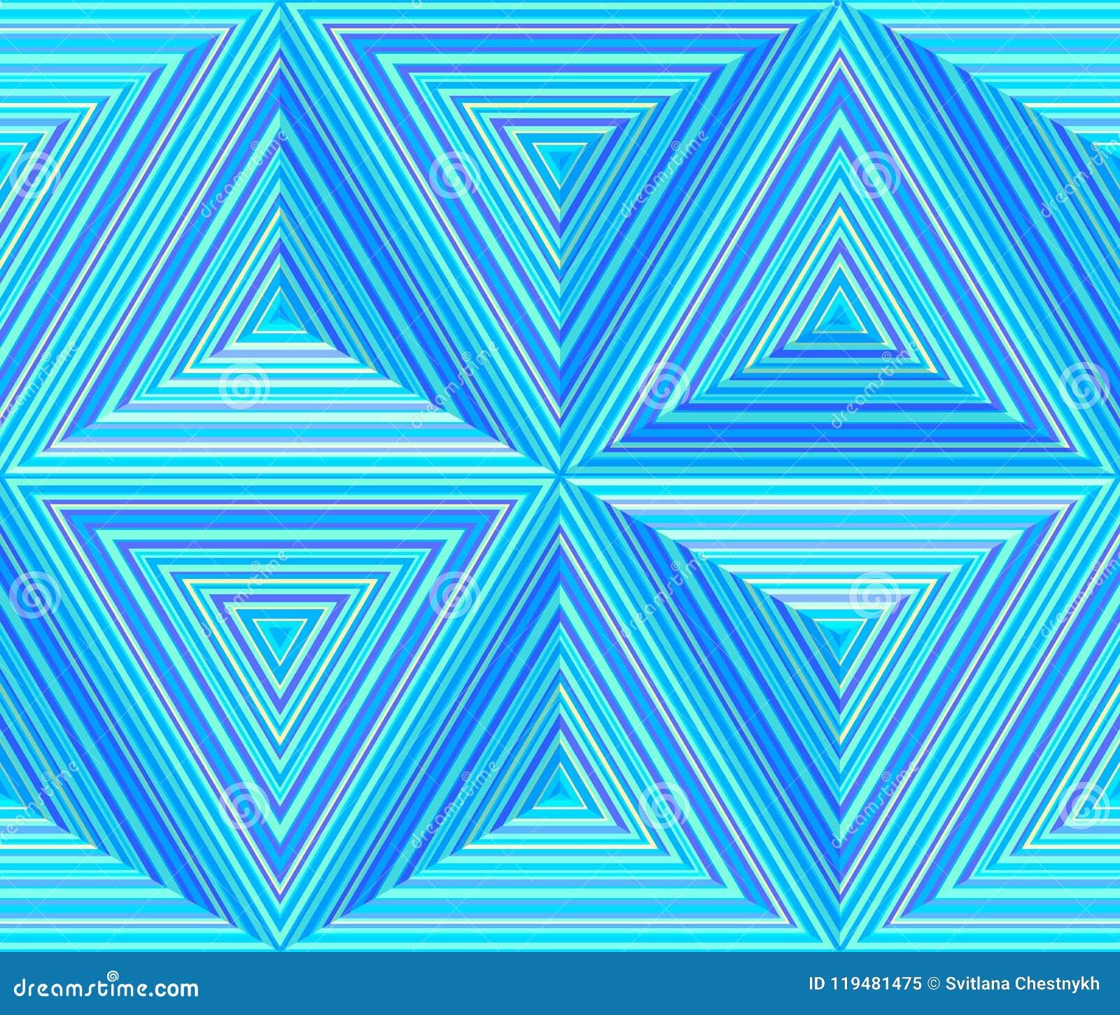 Dimensões triangulares, fundo repetível geométrico abstrato
