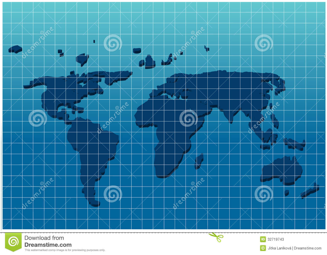 Dimensional world map on grid paper stock vector illustration of dimensional world map on grid paper gumiabroncs Images