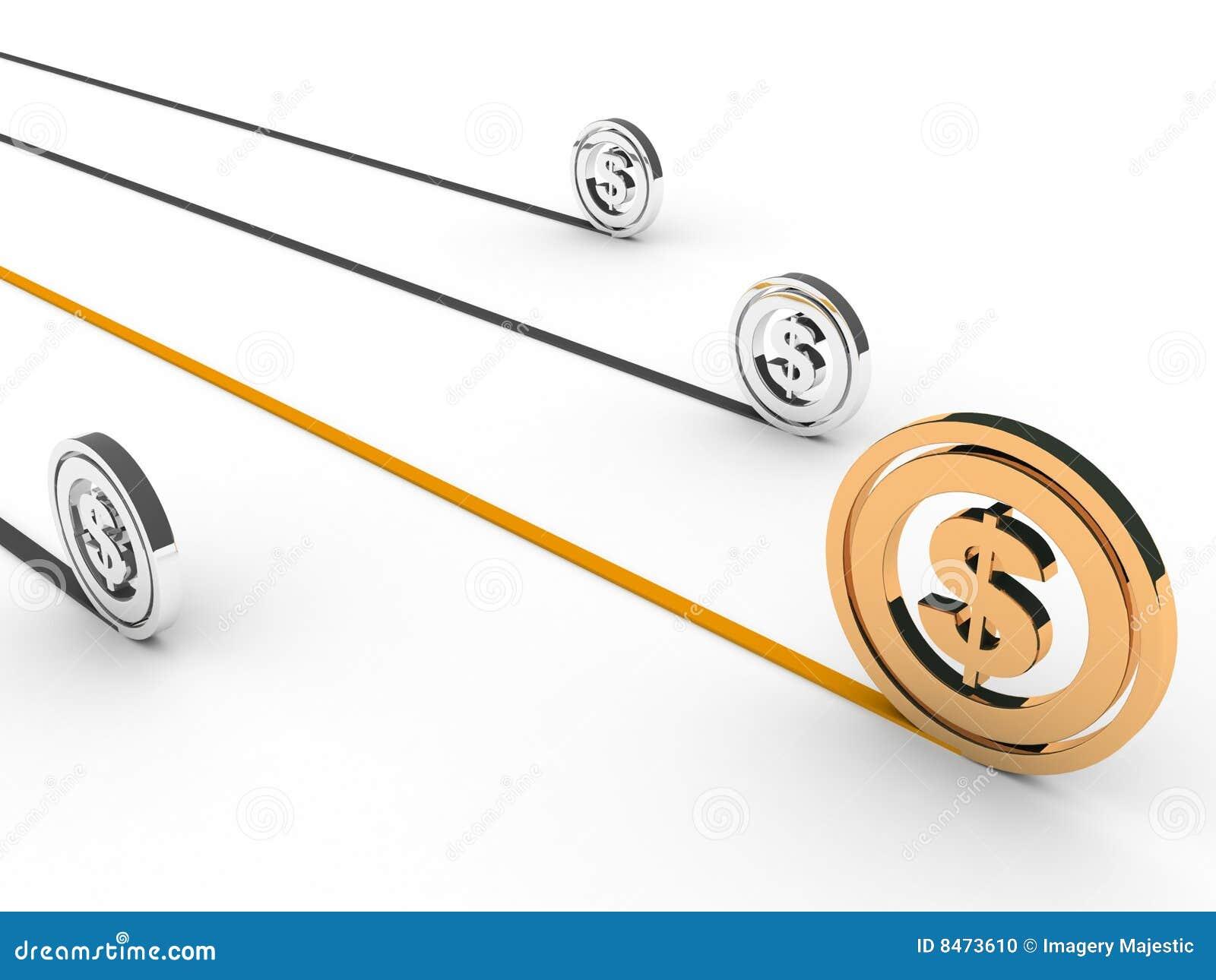 Dimensionellt dollartecken tre