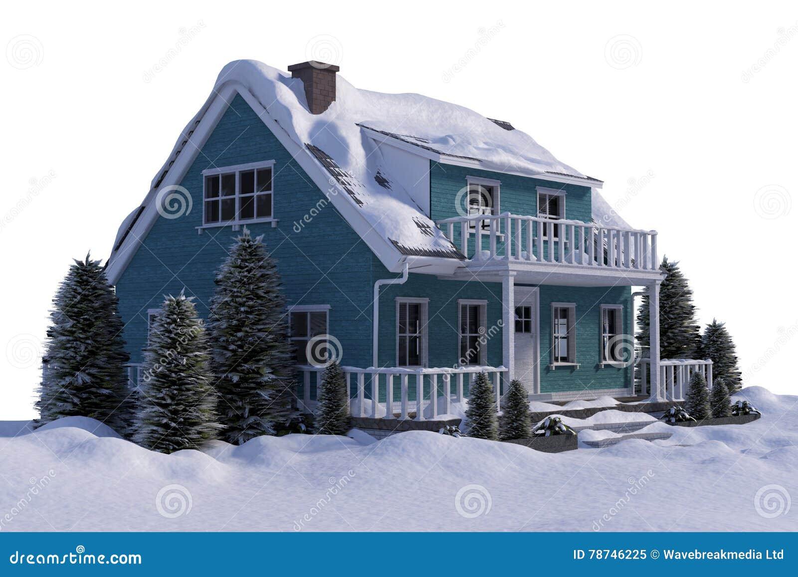 Dimensionellt hus tre