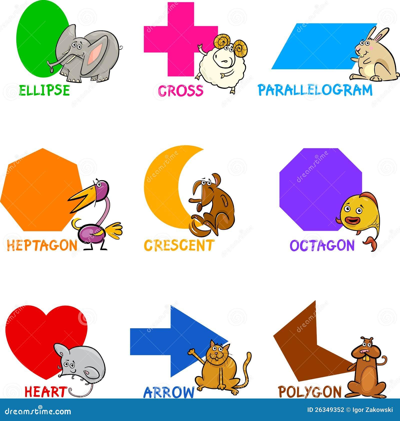 Dimensiones de una variable geométricas básicas con los animales de la historieta