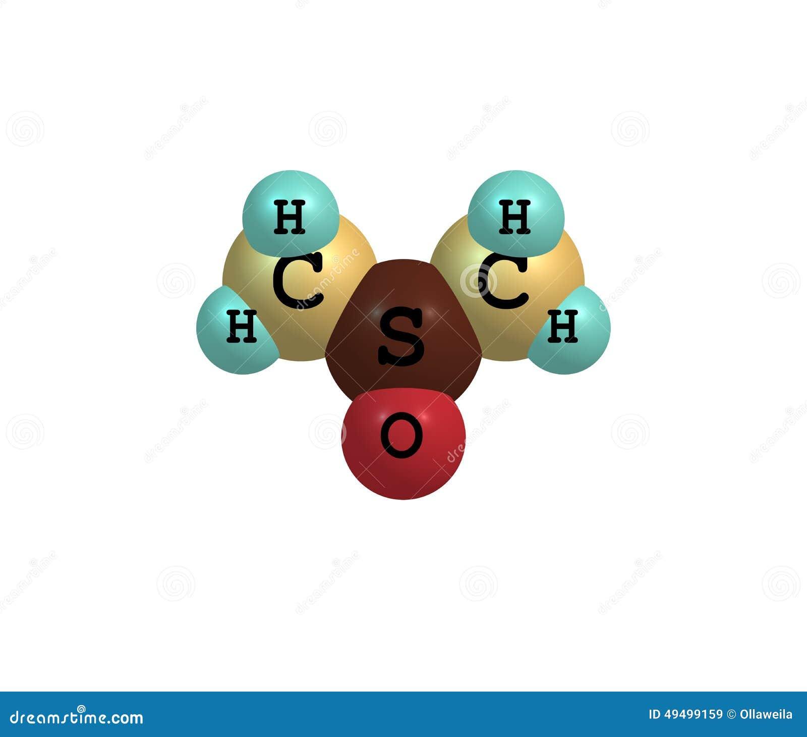 Dimethyl Sulfoxide Molecule Isolated On White Stock Illustration