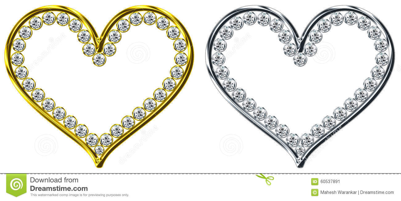 Dimond In Heart Stock Image Image Of Precious Element 60537891