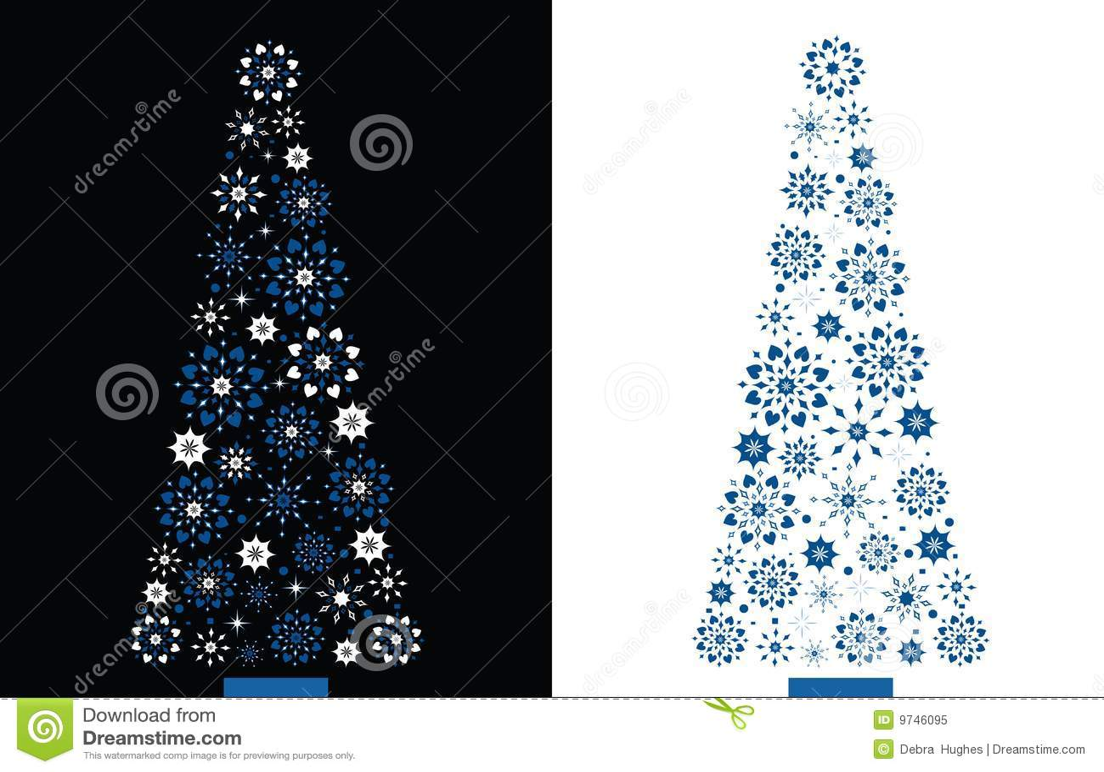 Dimond Shape Snowflake Christmas Tree Royalty Free Stock Photo ...