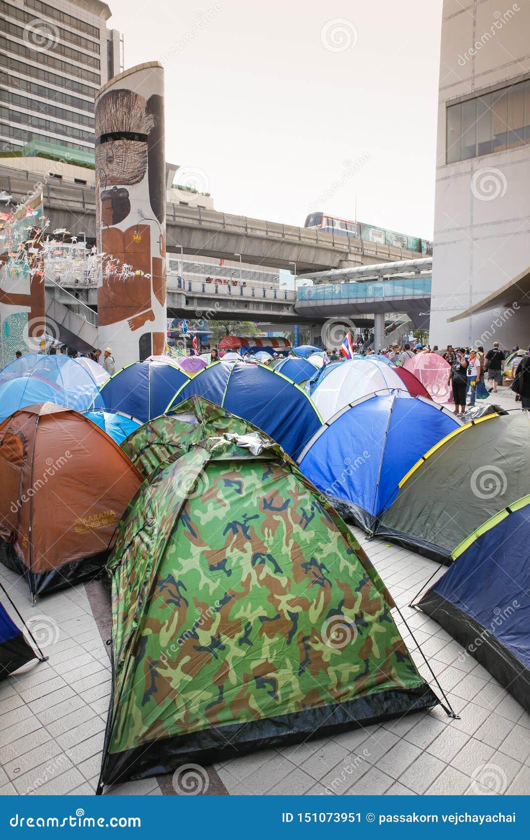 Dimostranti della tenda
