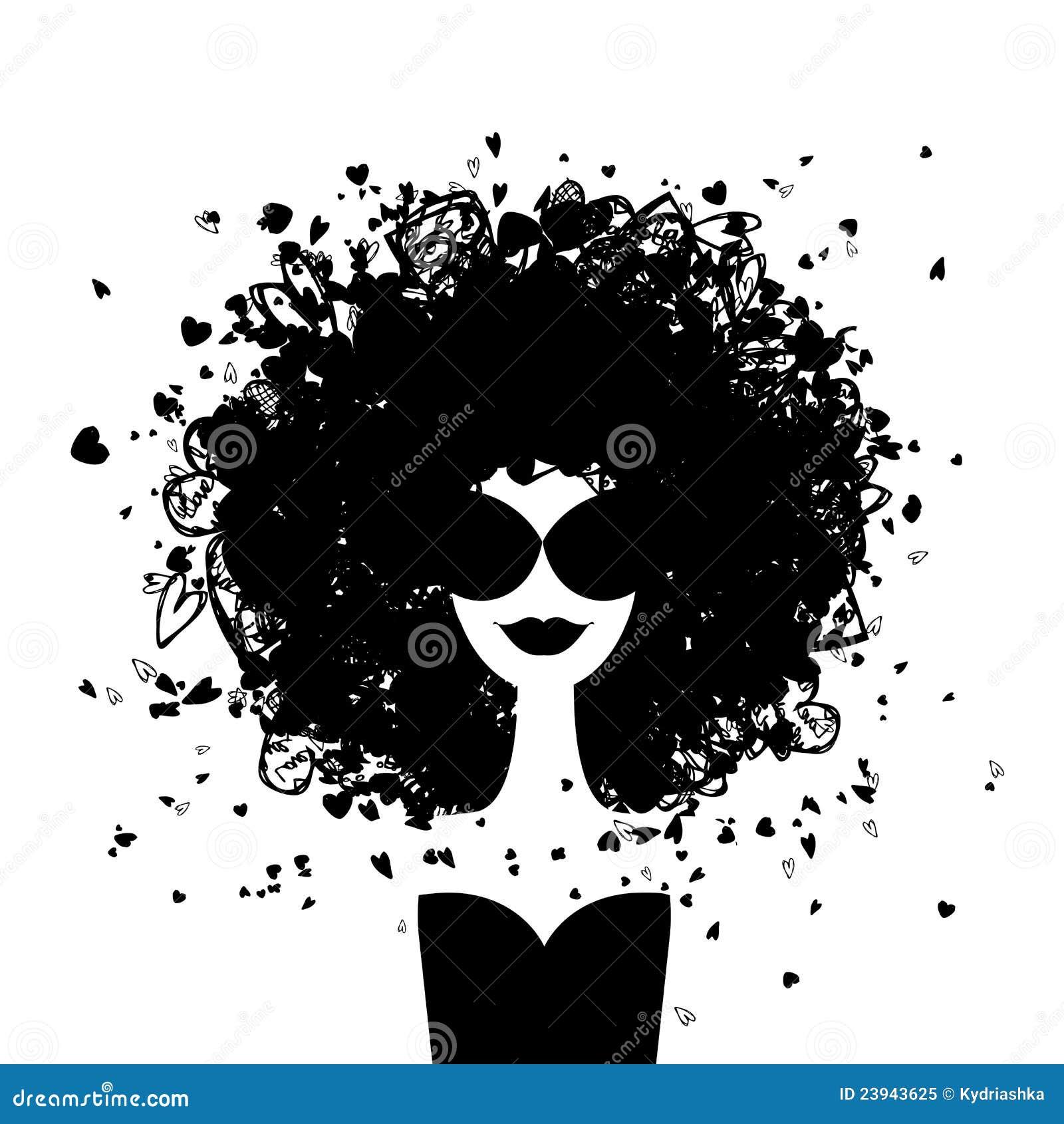 Din kvinna för designmodestående