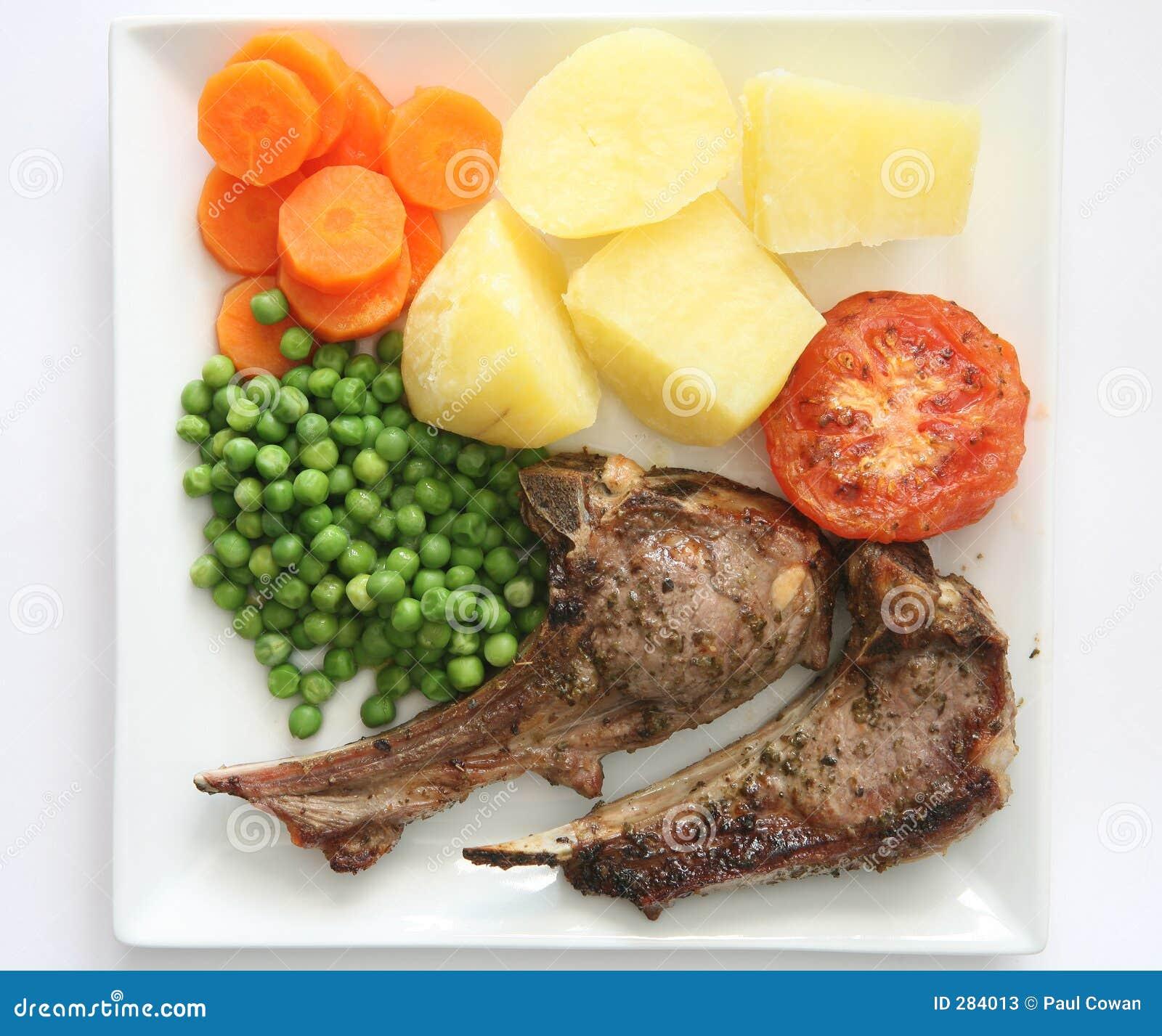 Diner 1 van lamskoteletten
