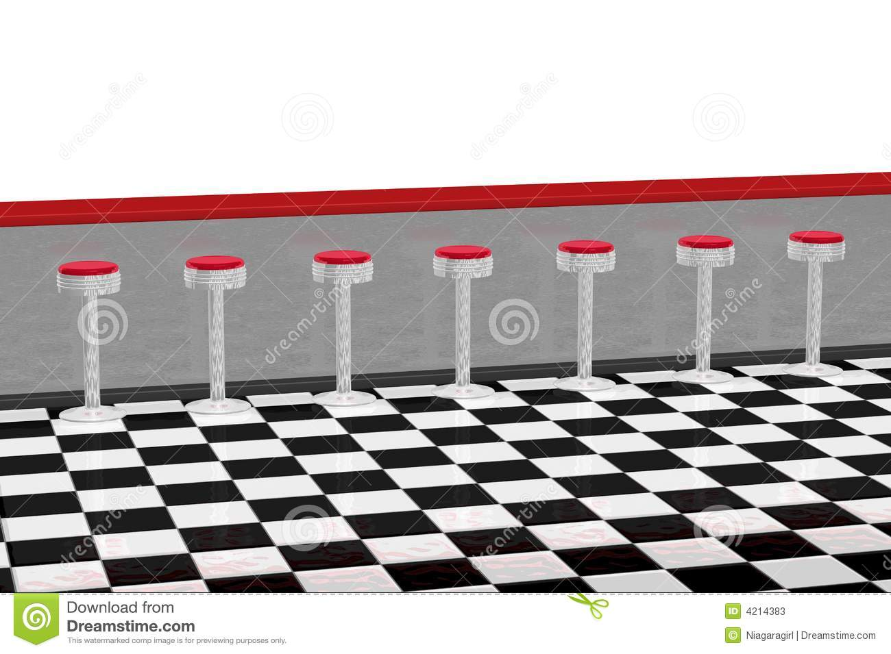 Diner Counter Restaurant Stock Photos Image 4214383