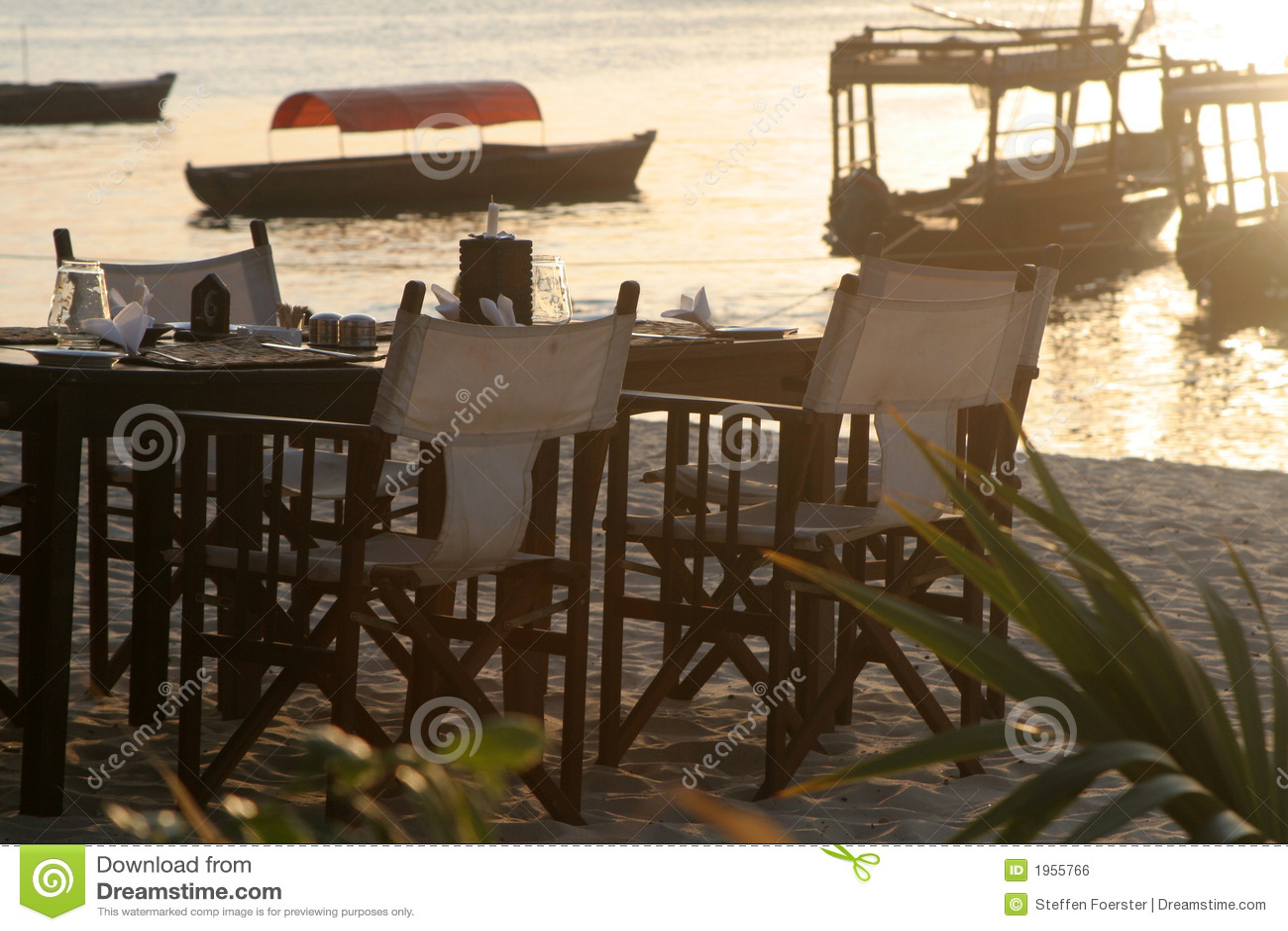 Diner de plage