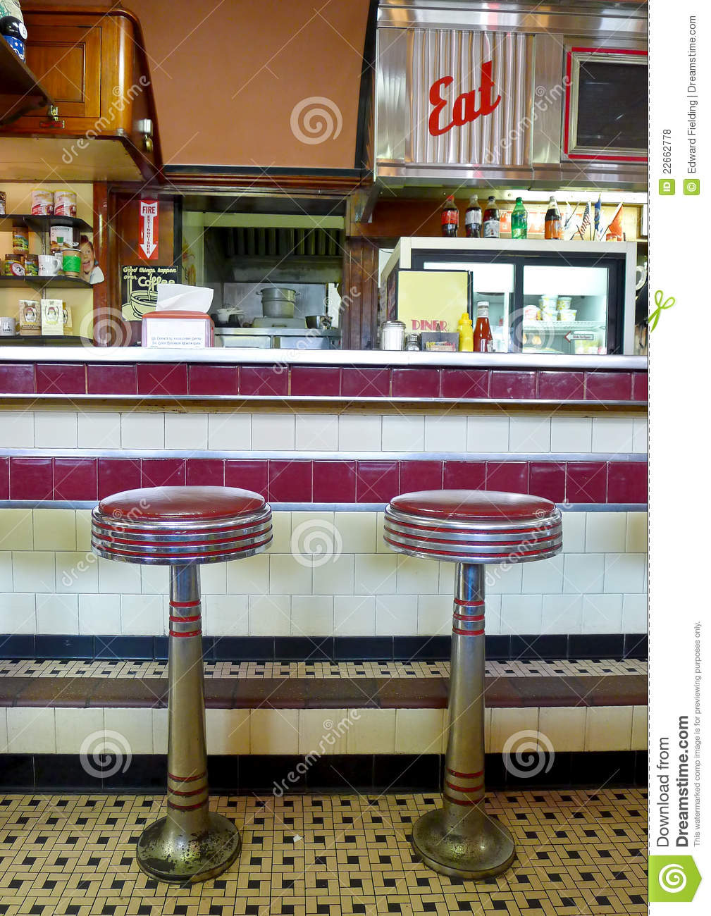 Diner Interior Editorial Stock Photo Image Of Stool