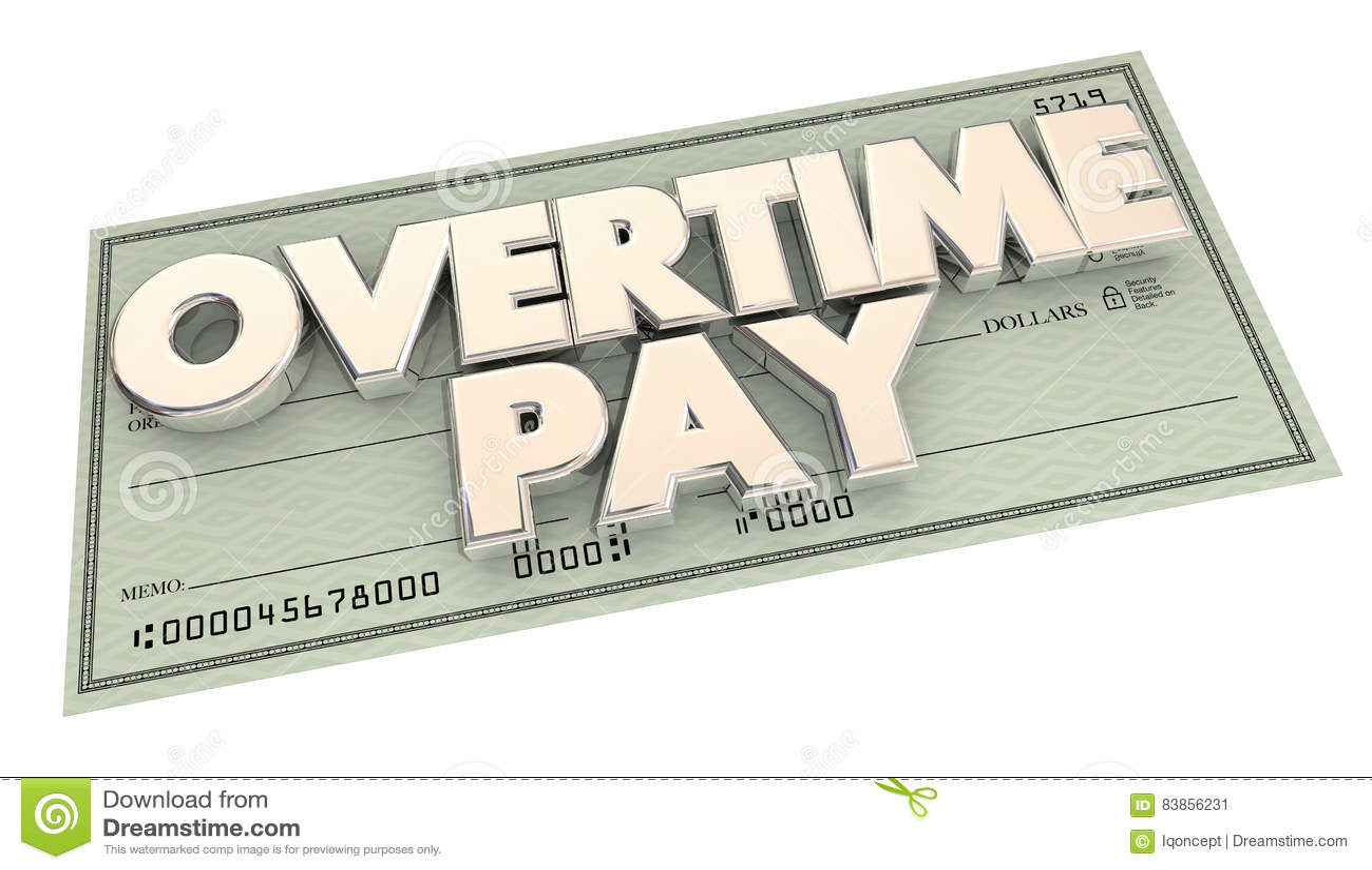 Dinero adicional de las horas de trabajo del control del pago de horas extras