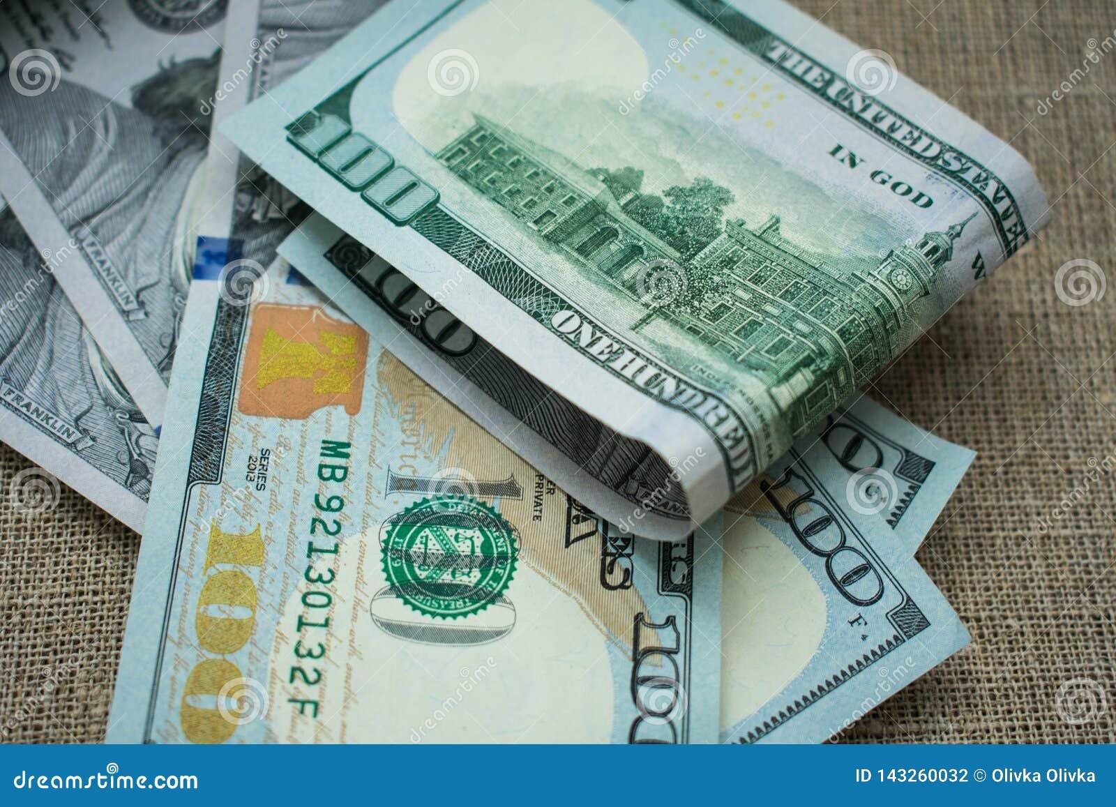 Dinero americano 100 del dólar