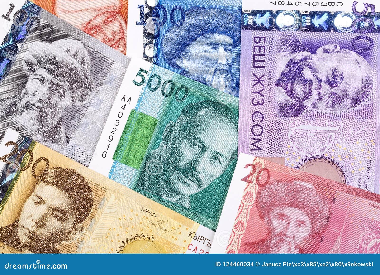 Dinero de Kirguistán, un fondo