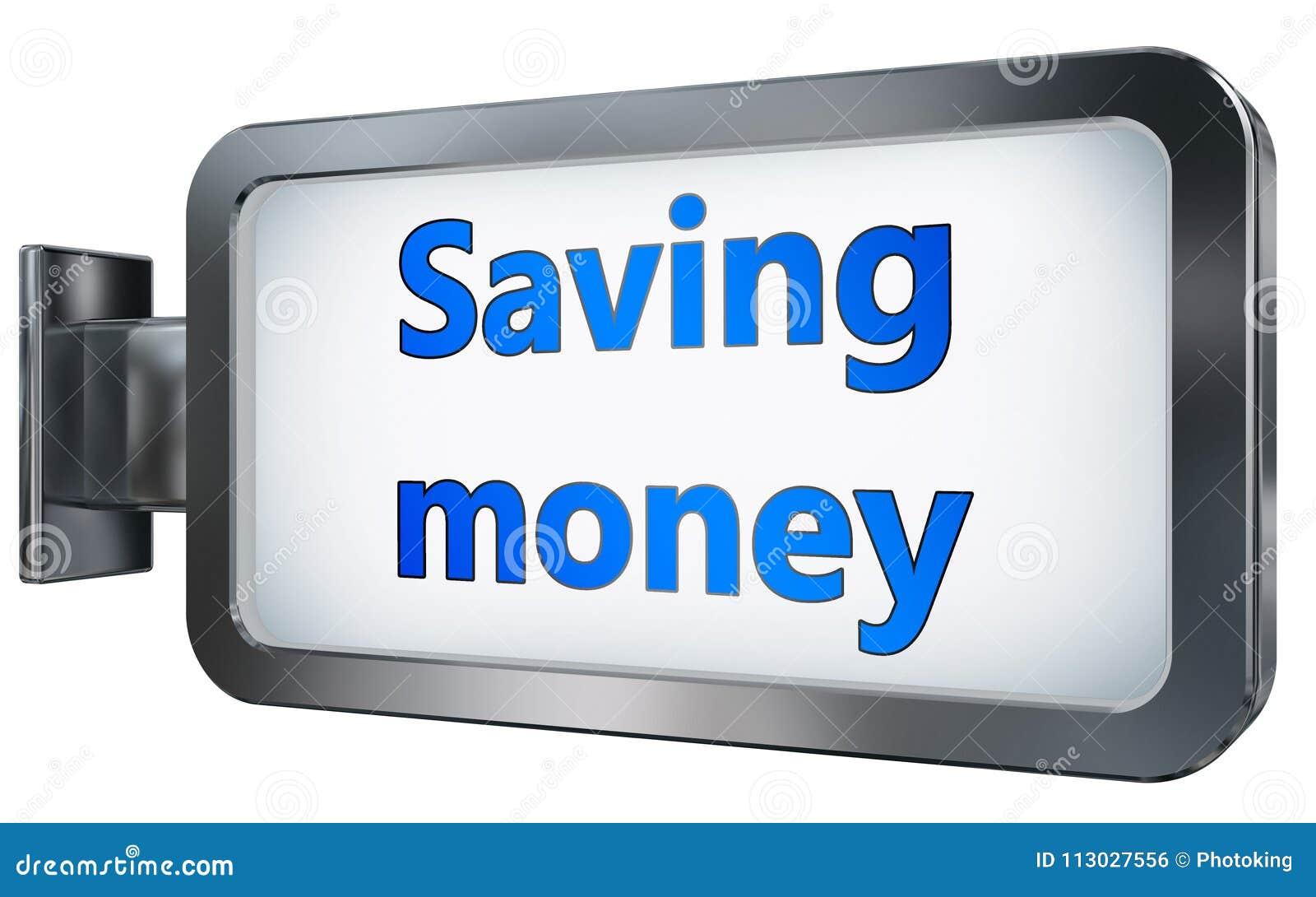 Dinero del ahorro en fondo de la cartelera