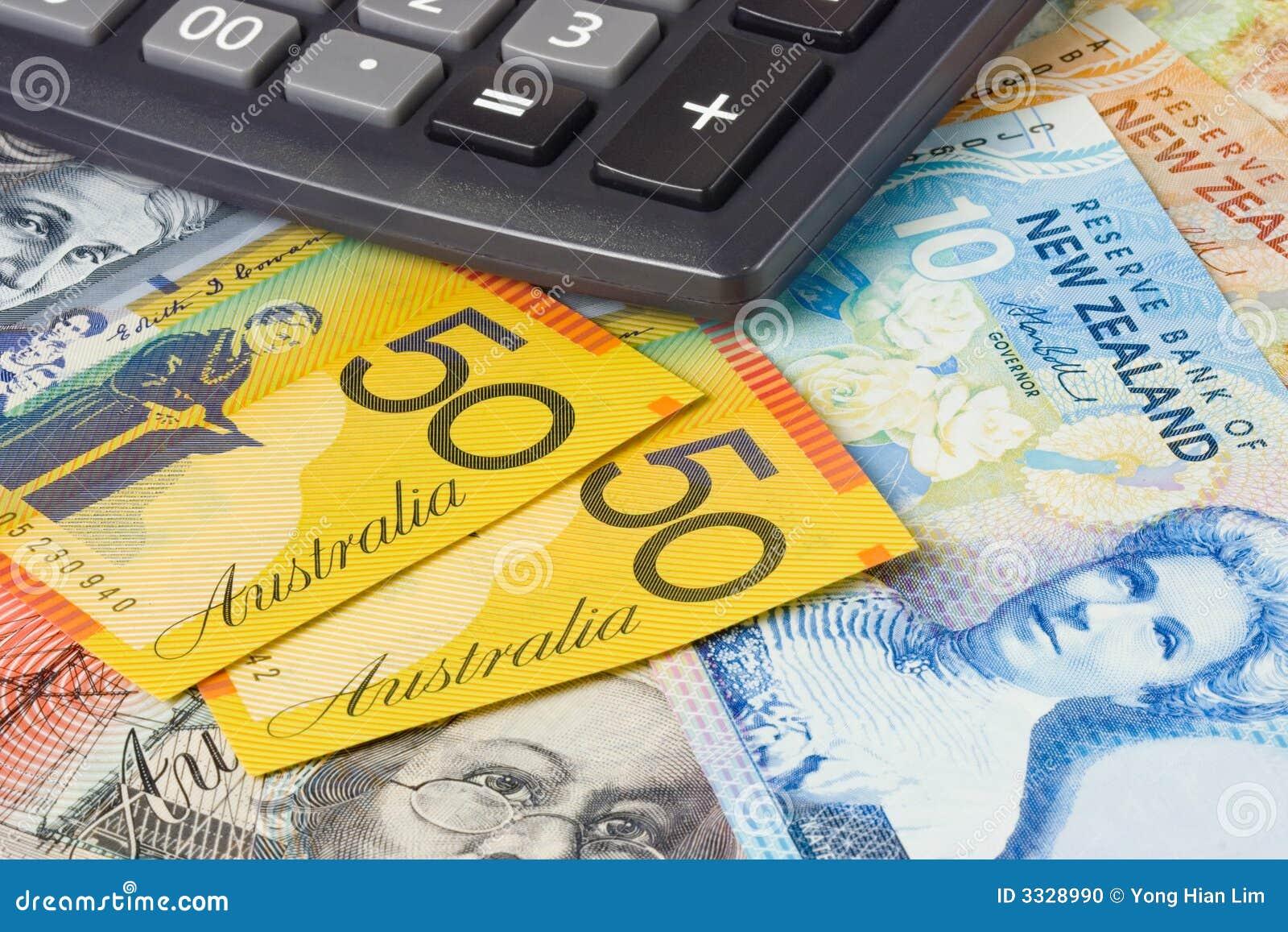 Dinero en circulación de Australia Nueva Zelandia