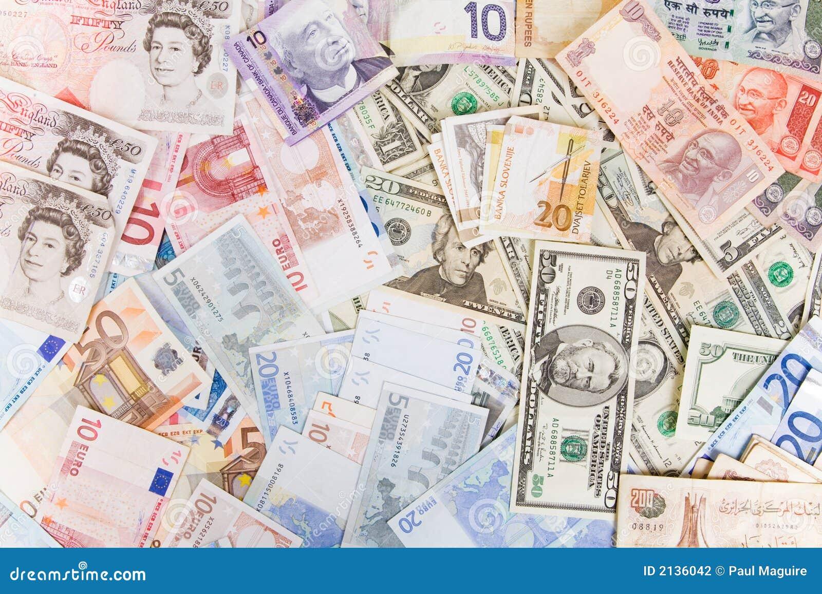 Dinero en circulación mezclado