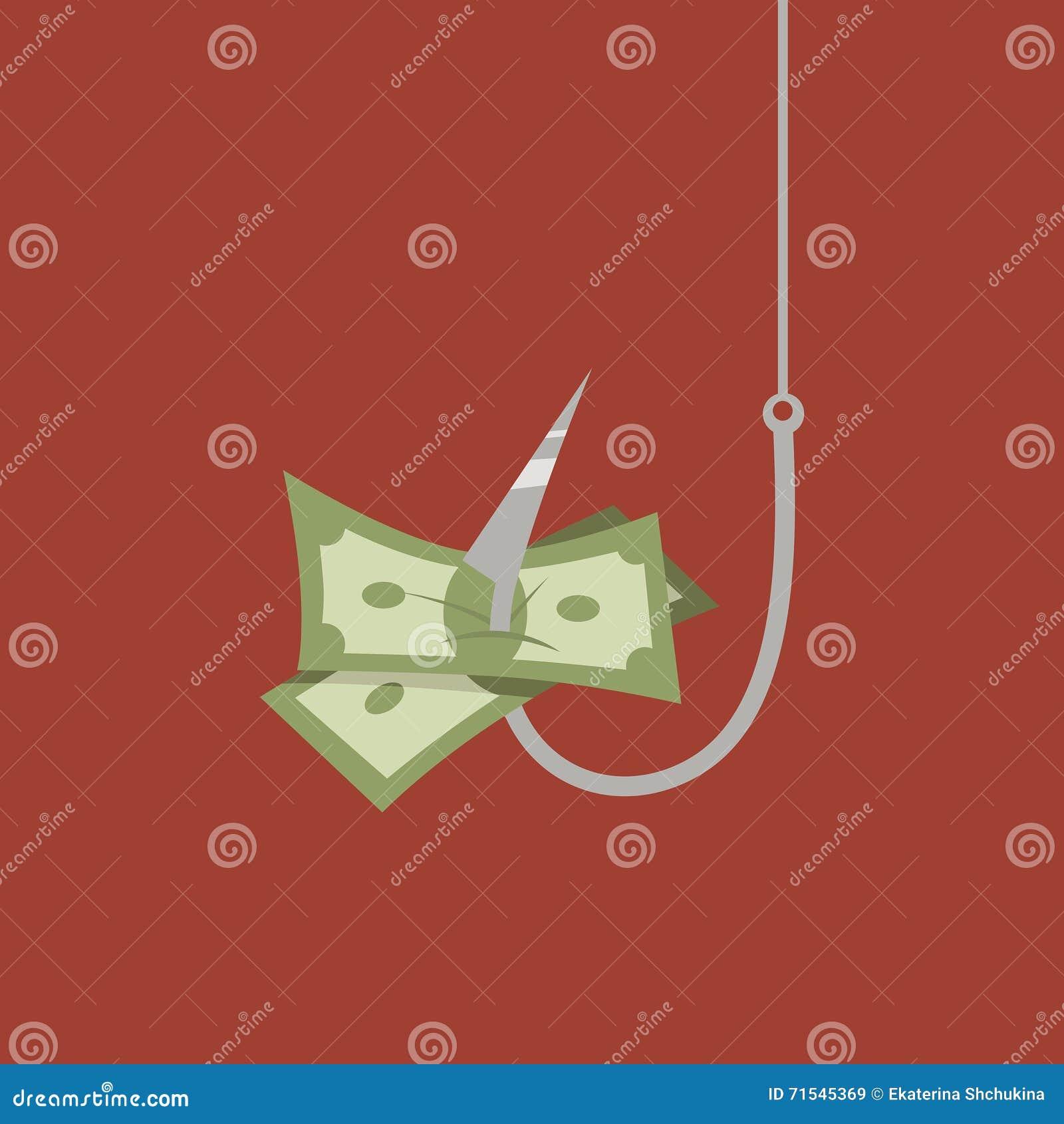 Dinero en el gancho