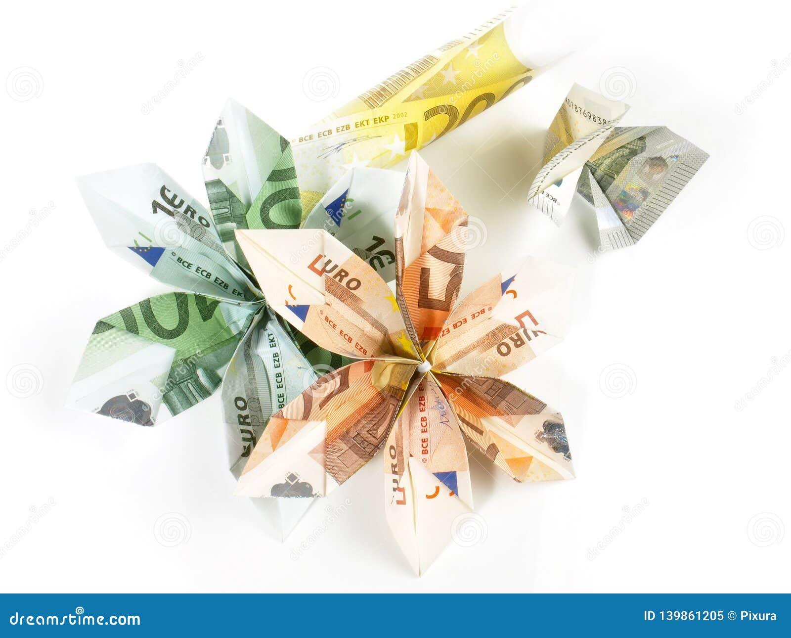 Dinero EURO de la papiroflexia