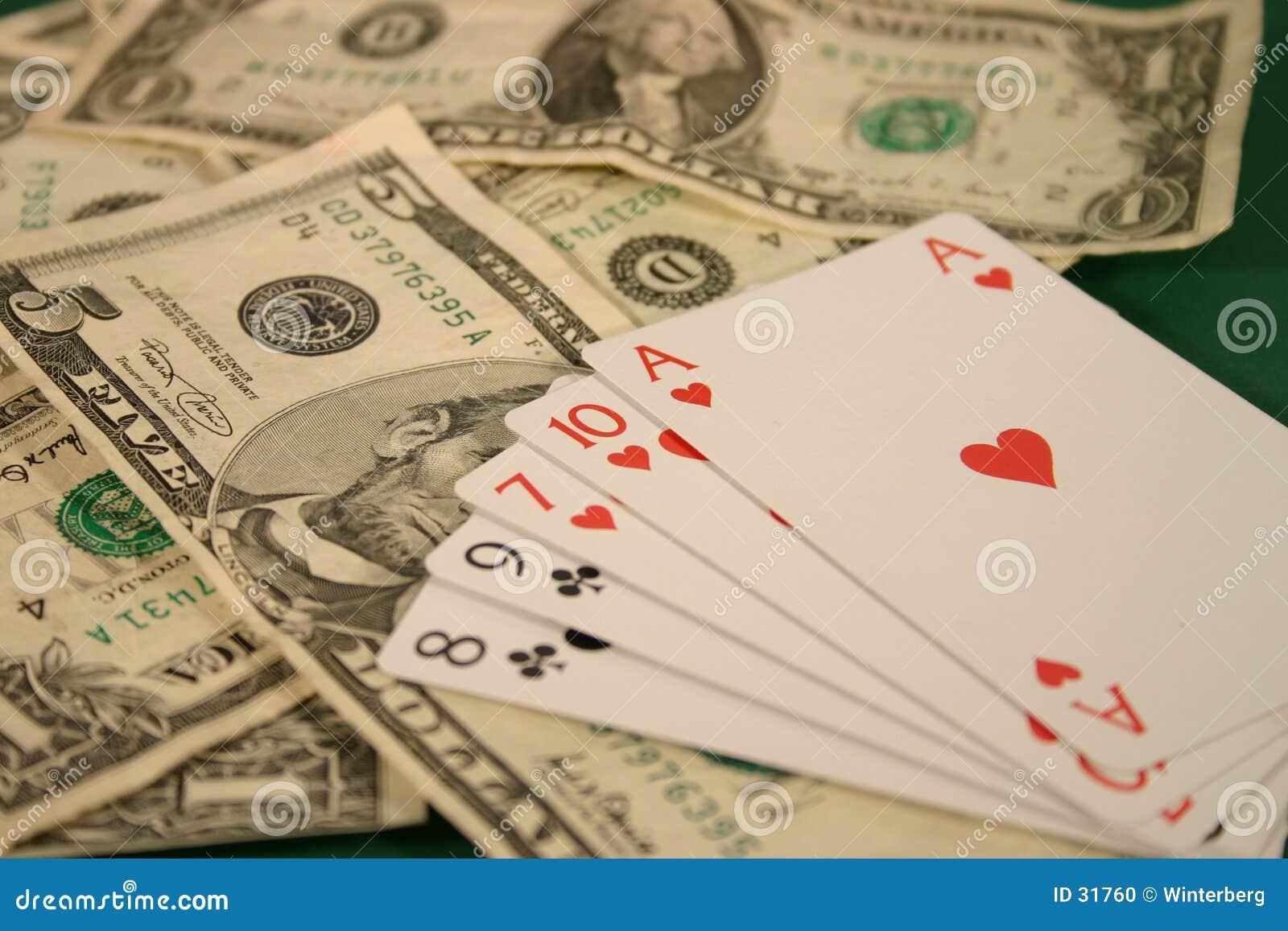 Download Dinero y tarjetas foto de archivo. Imagen de juego, dólar - 31760