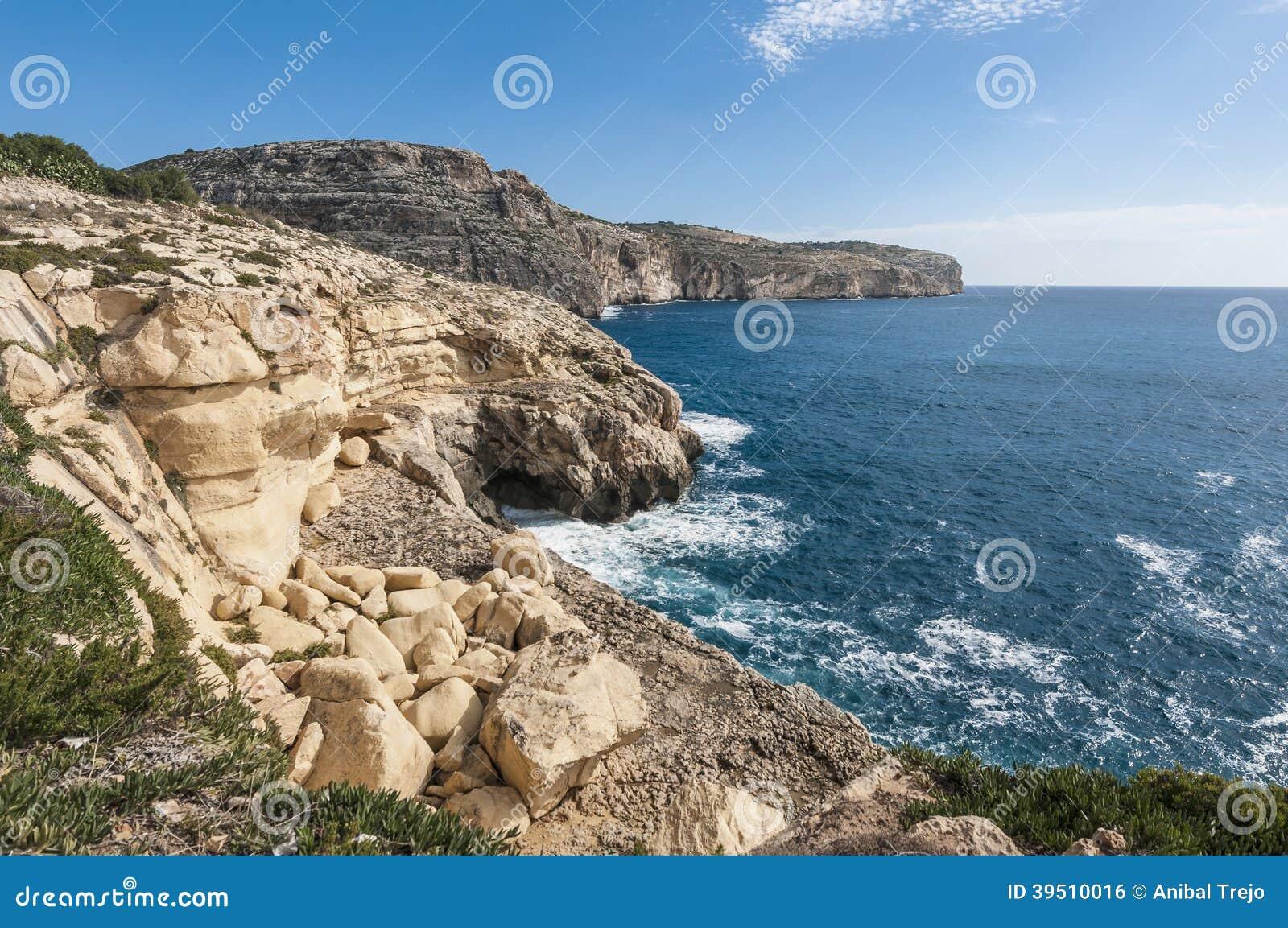 The Dingli Cliffs in Malta