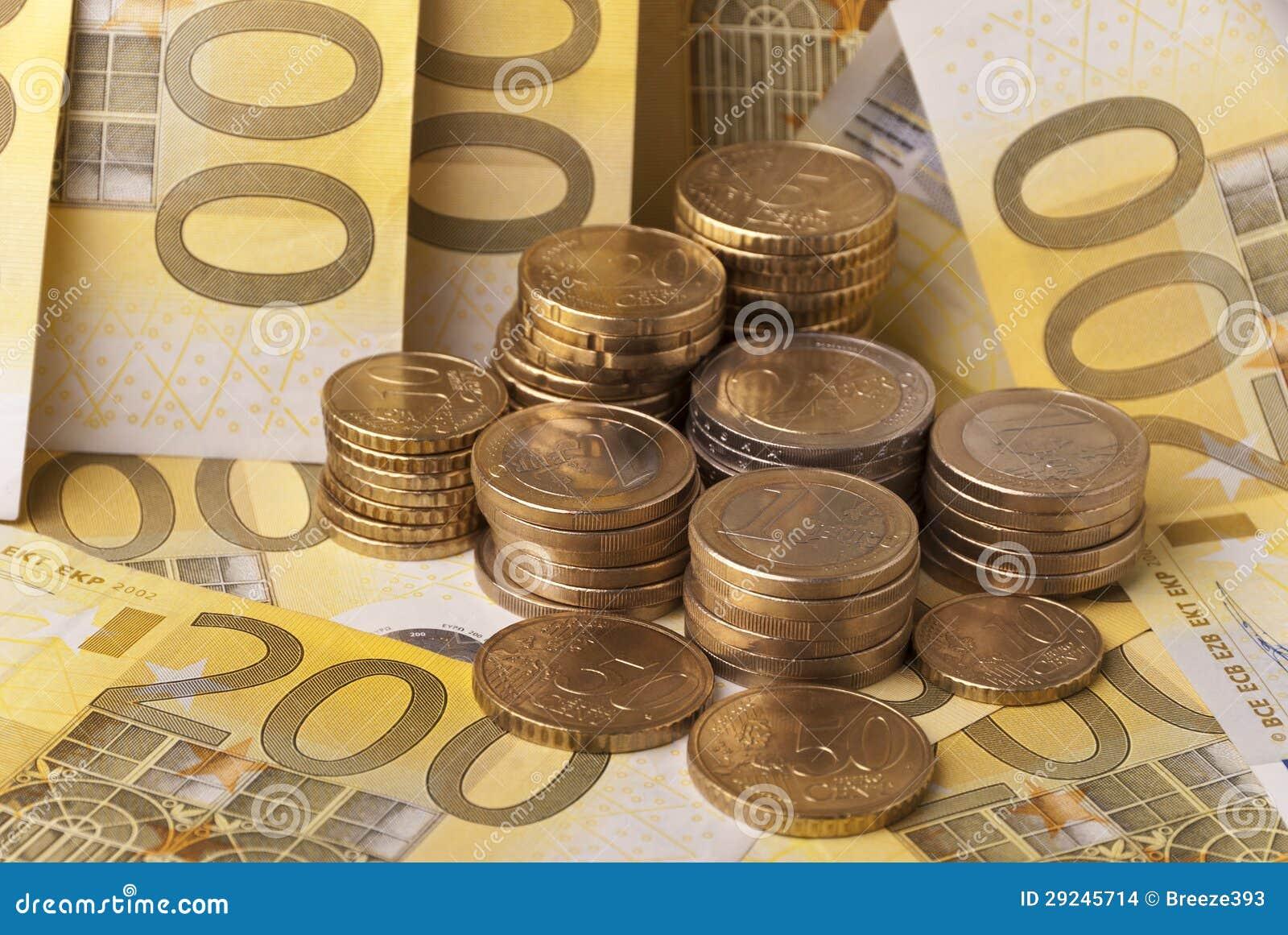 Download Dinheiro foto de stock. Imagem de euro, metal, troca - 29245714