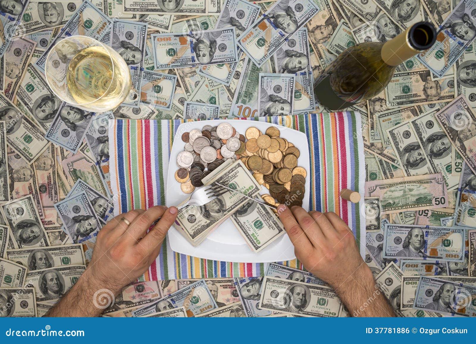 Dinheiro antropófago com a extravagância