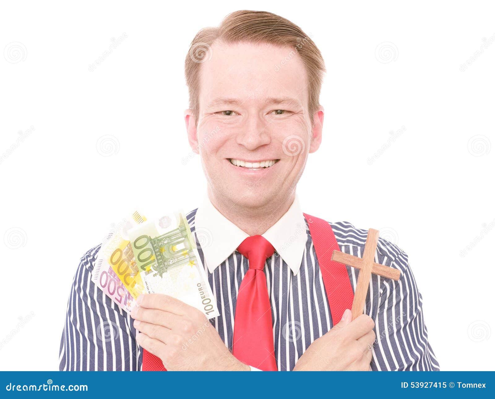 Dinheiro cristão do negócio