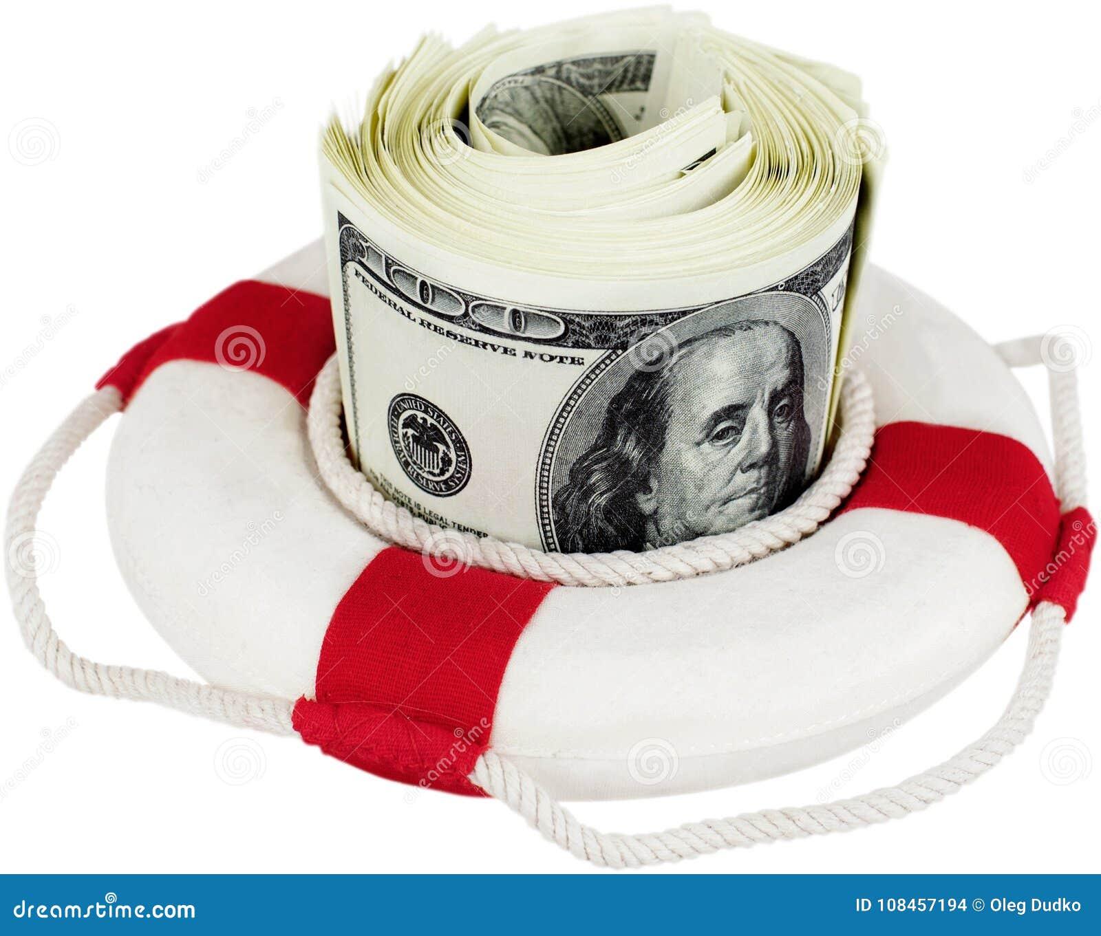 Dinheiro do surroung do anel de vida - conceito do momey da economia