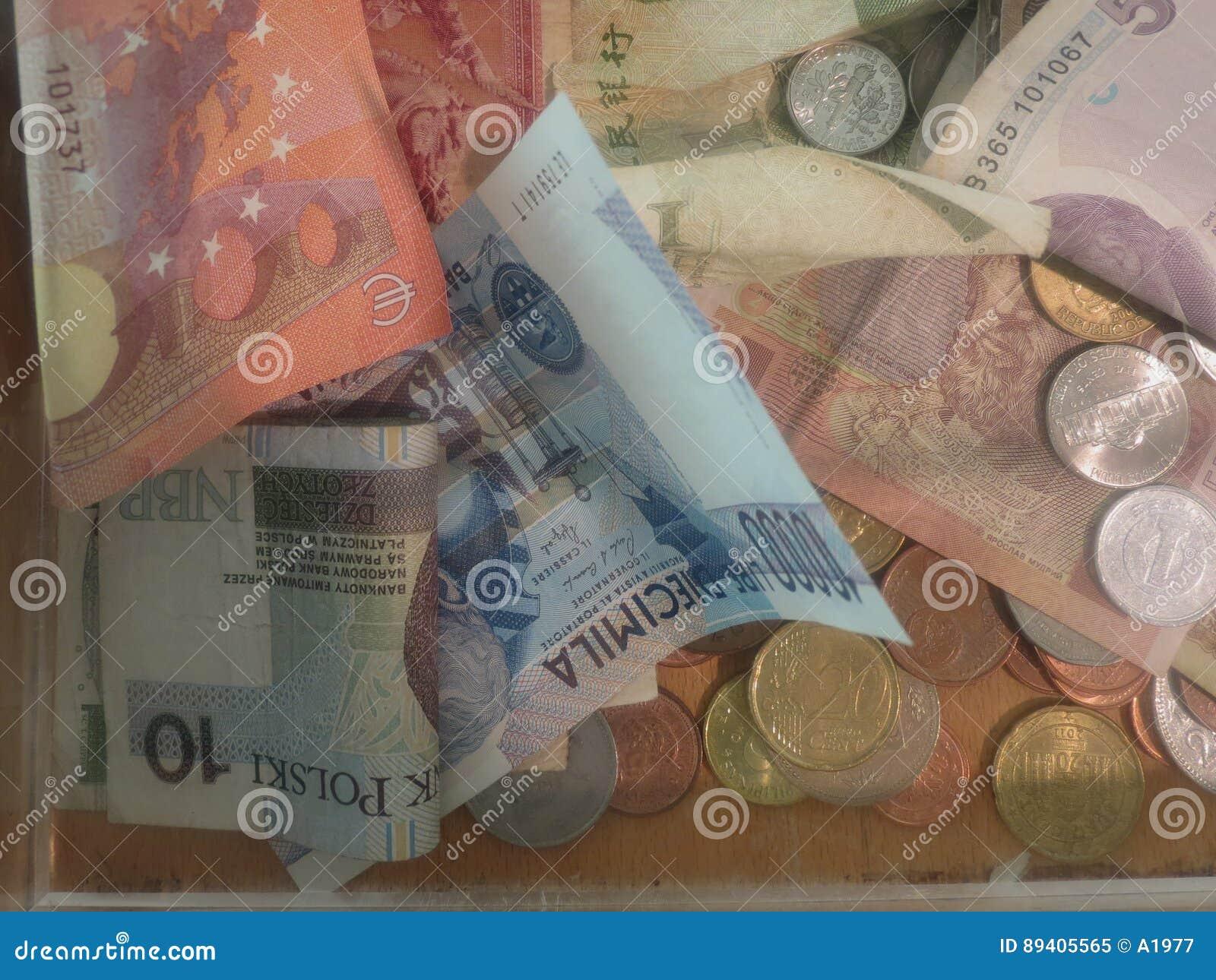Dinheiro dos vários países