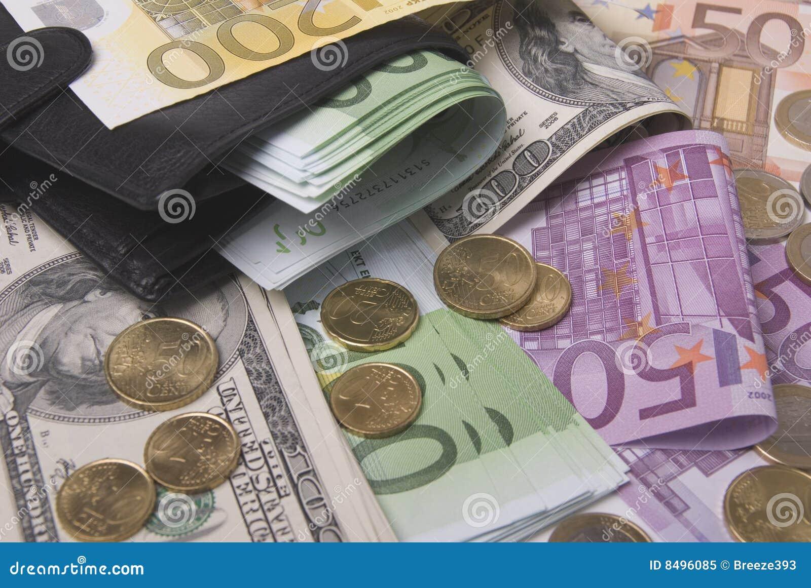 Dinheiro e bolsa