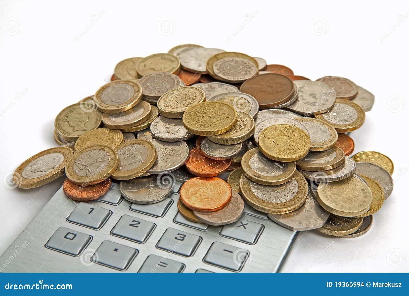 Dinheiro e calculadora