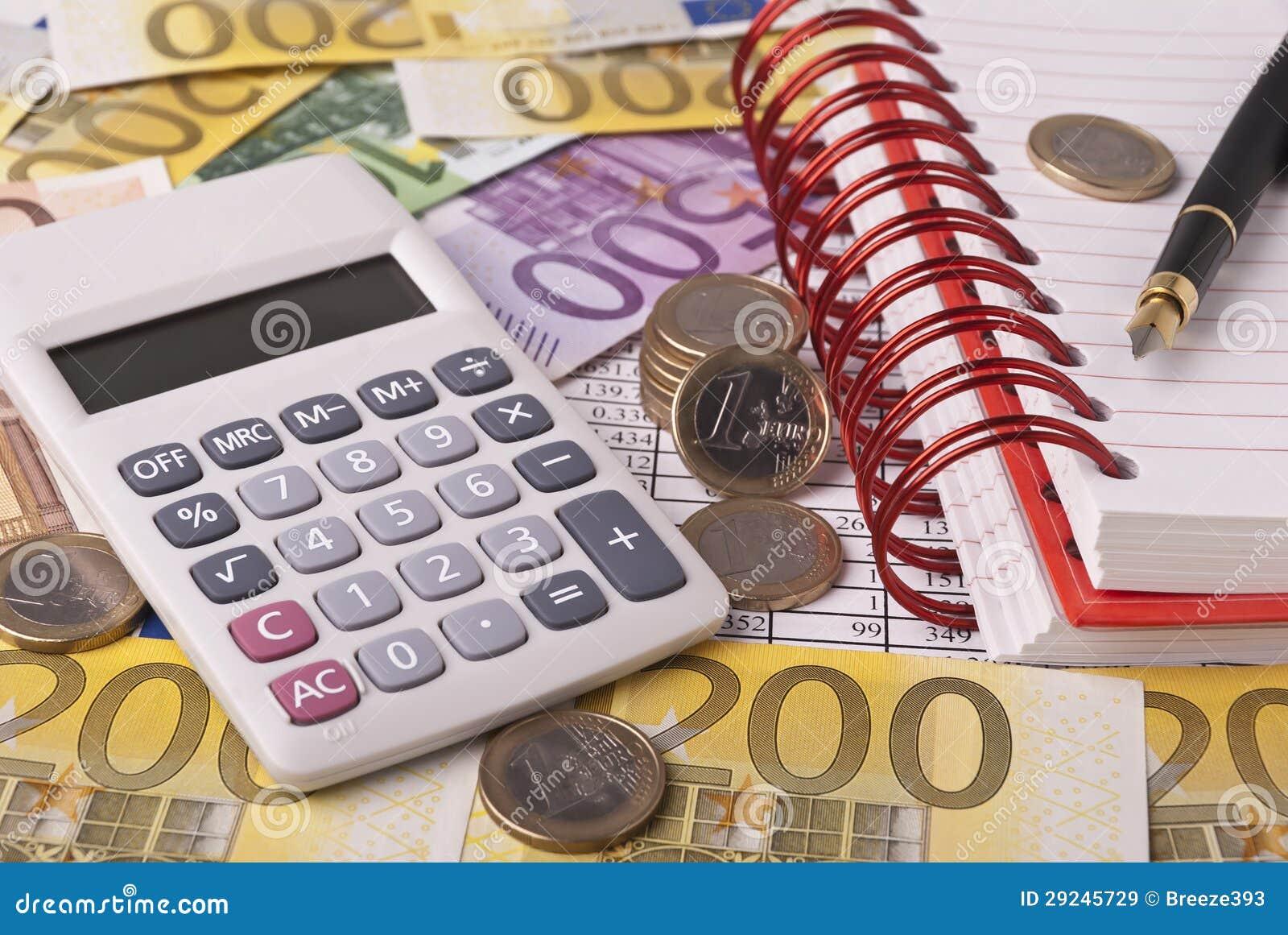 Download Dinheiro e calculadora imagem de stock. Imagem de currency - 29245729