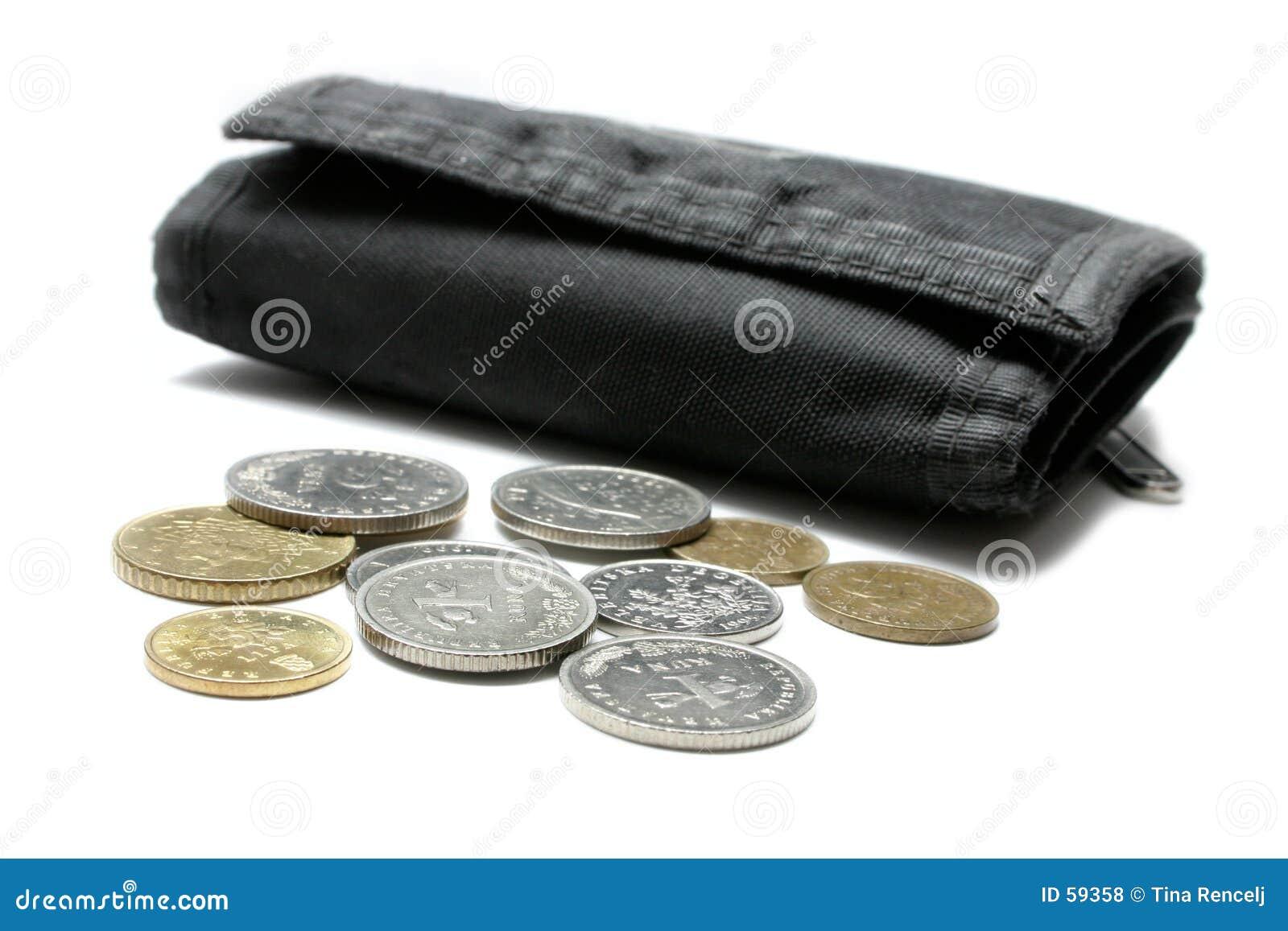 Dinheiro e carteira