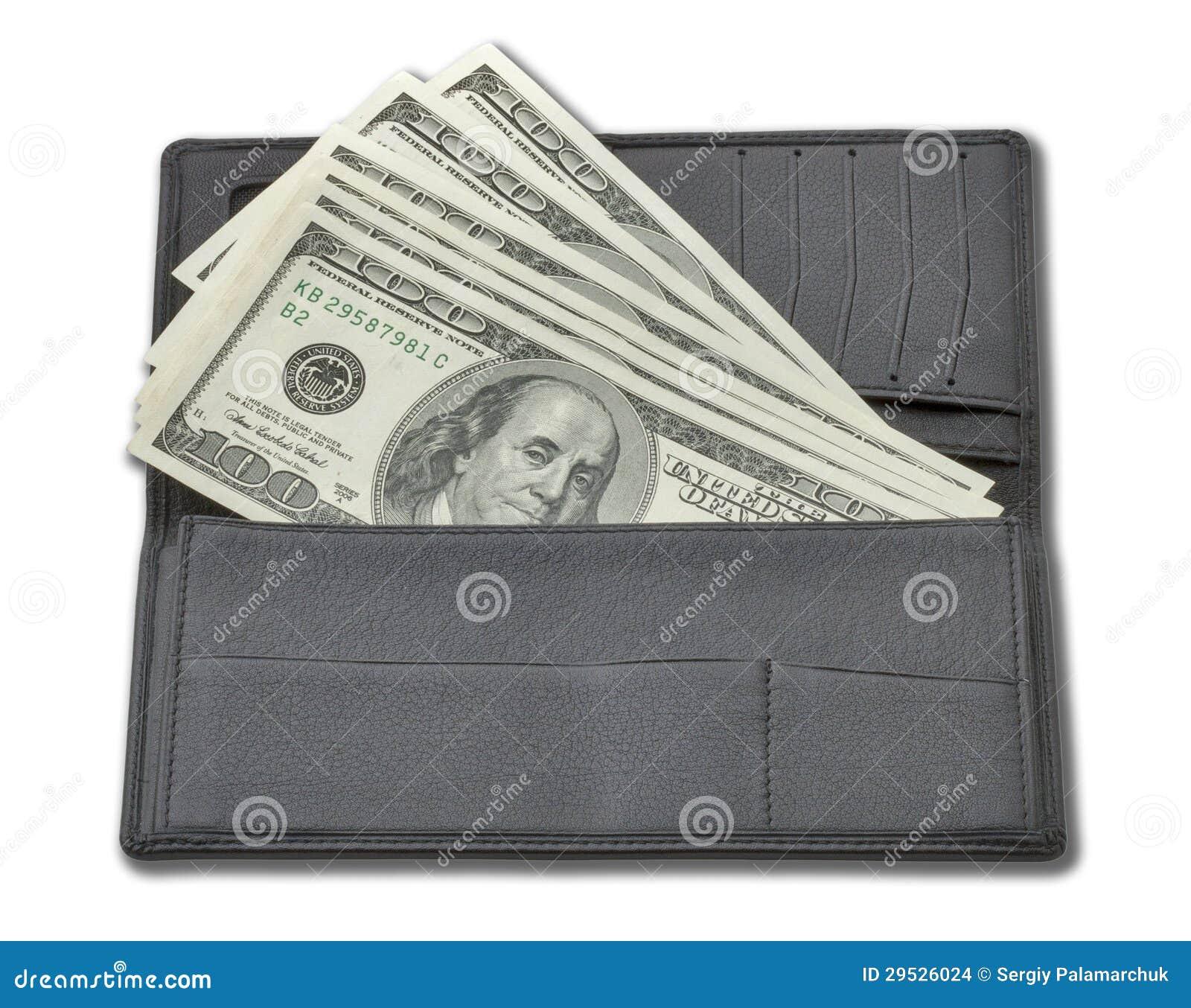 Dinheiro em uma bolsa