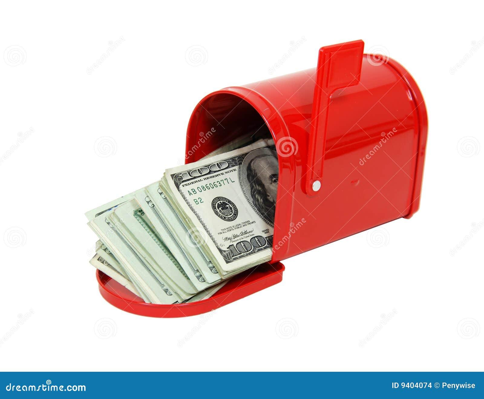 Dinheiro na caixa postal