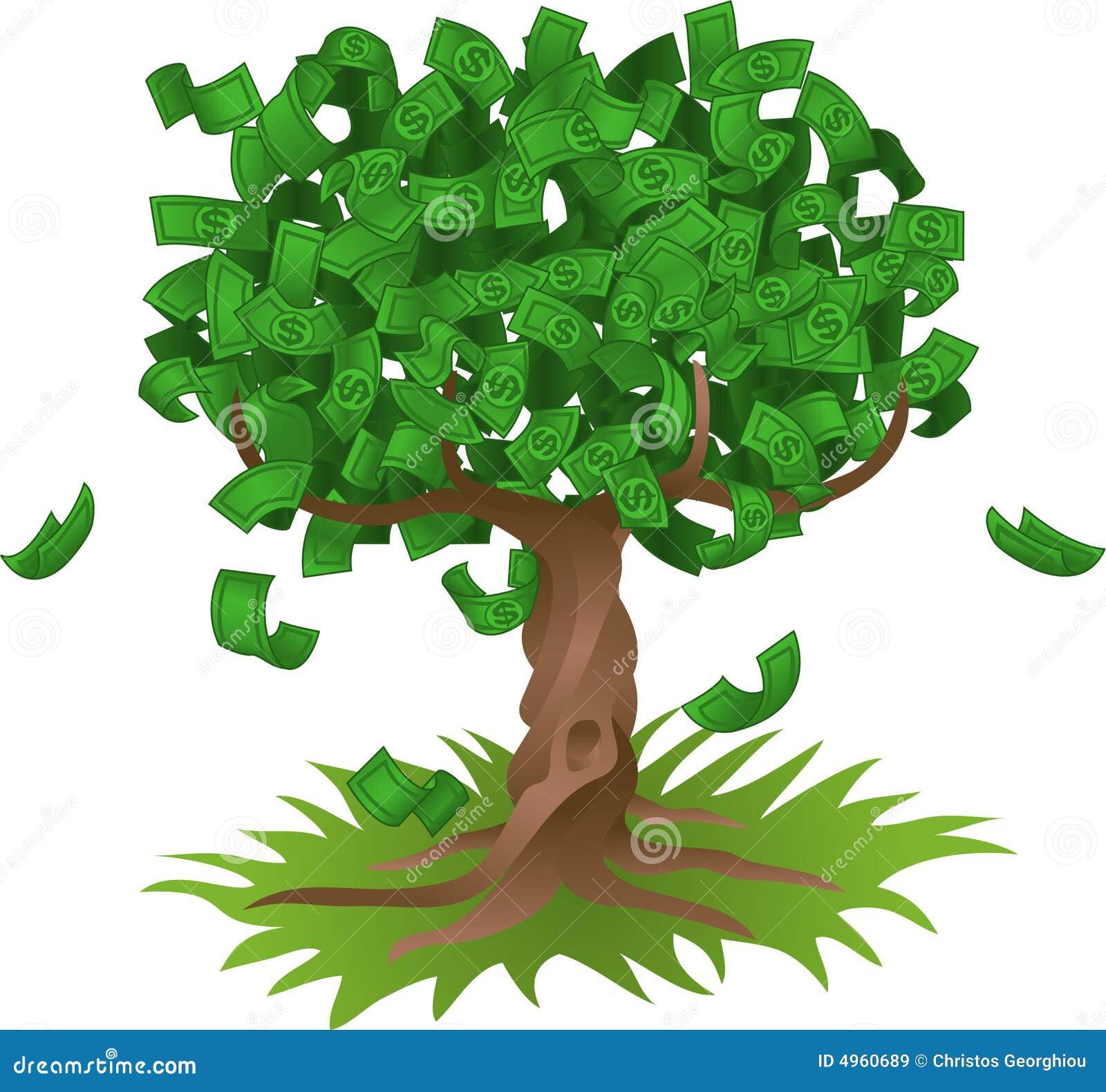 Dinheiro que cresce na árvore