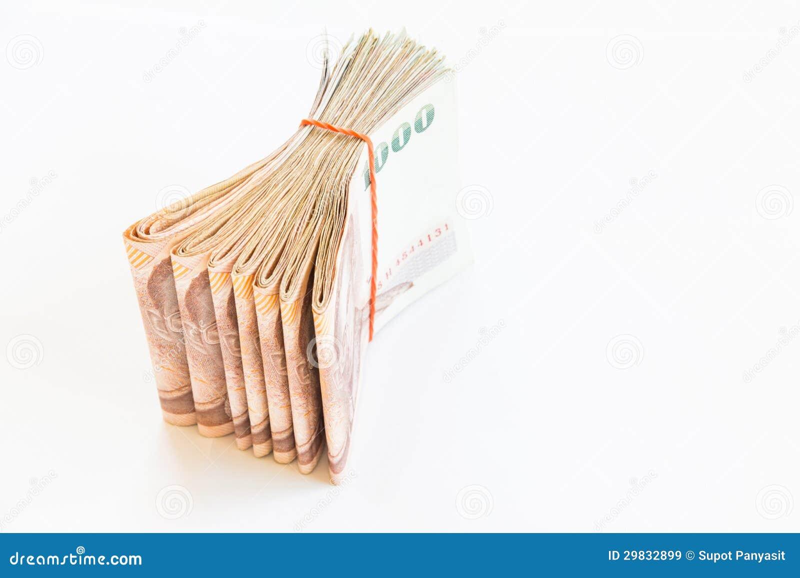 Dinheiro tailandês isolado