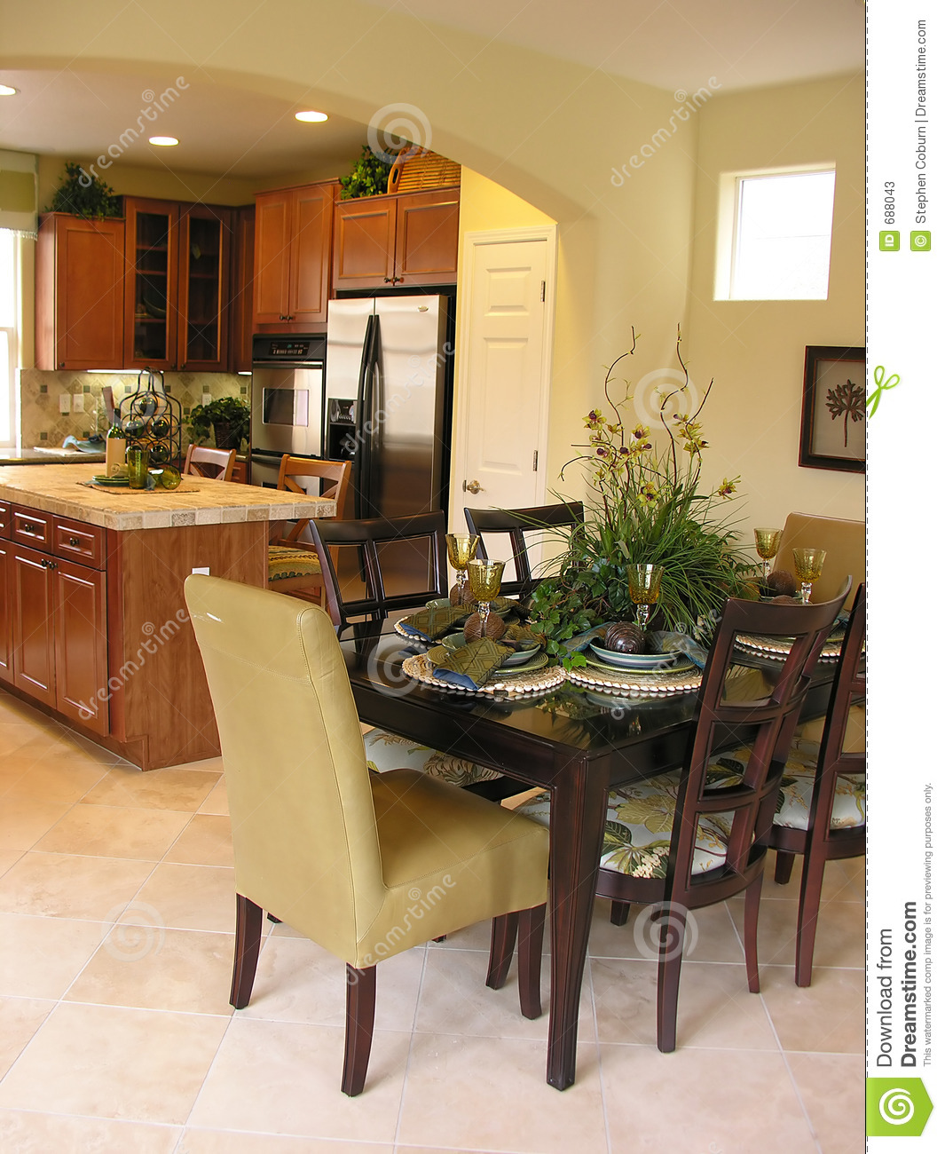 Dining Area And Kitchen Stock Photos - Image: 688043