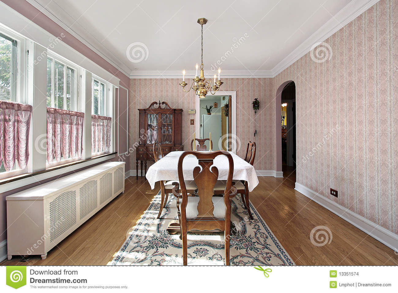 Dining room with arched entry stock images image 13351574 for Dining room entrance